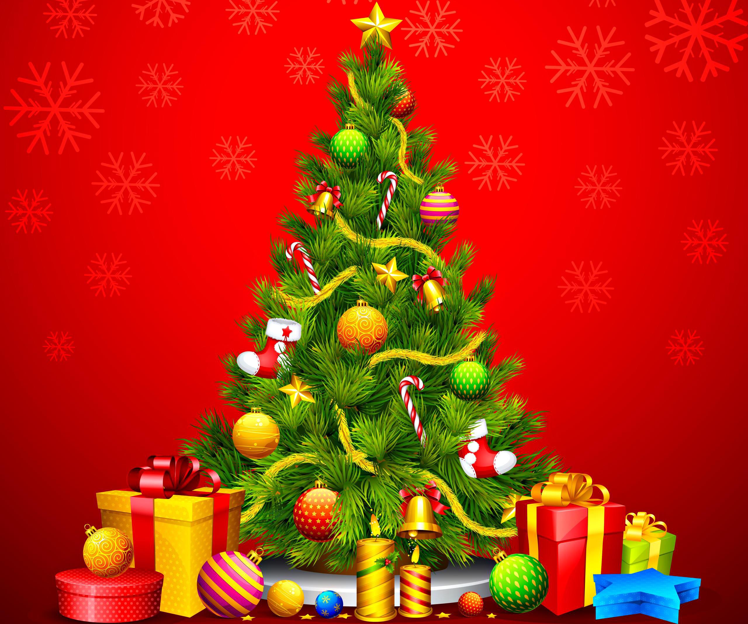 christmas tree animated hd wallpaper new christmas tree and fireplace #9755