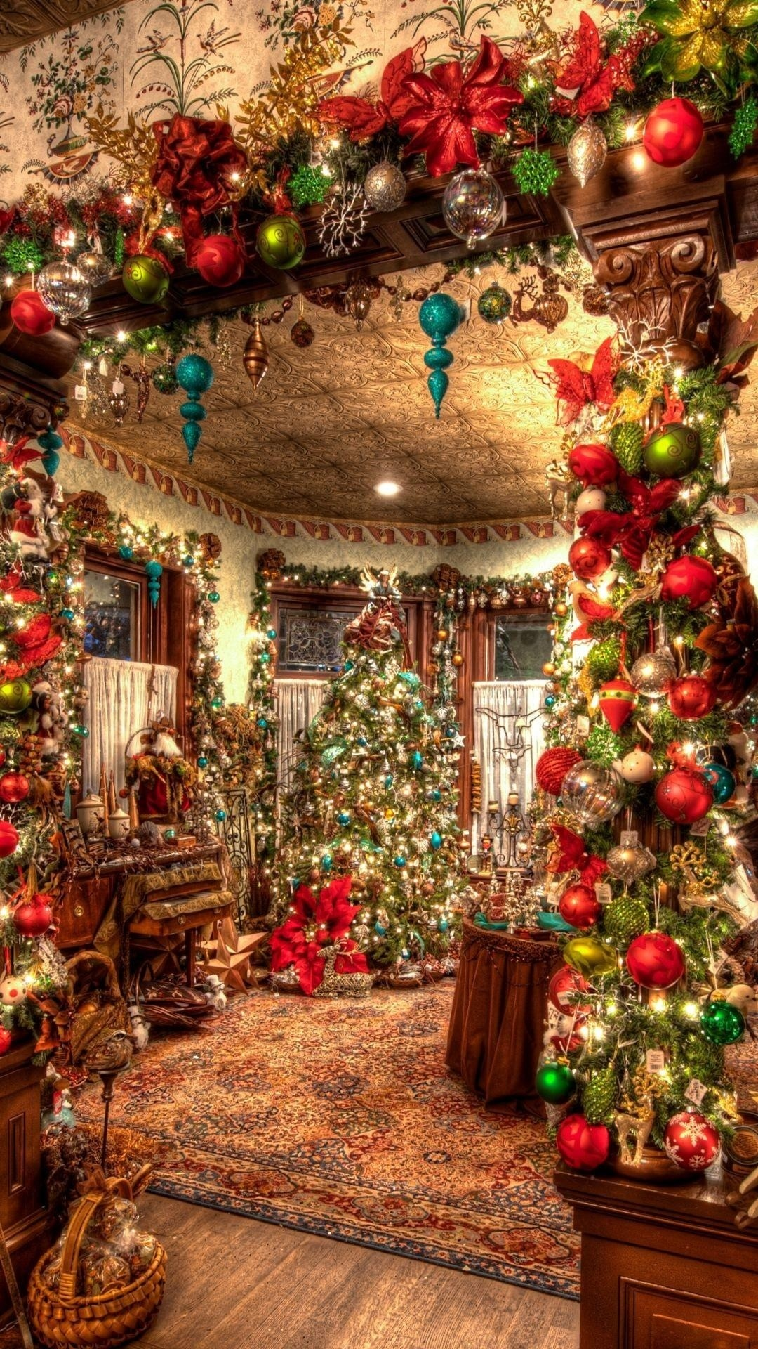 Wallpaper holiday, christmas, ornaments, toys, christmas tree