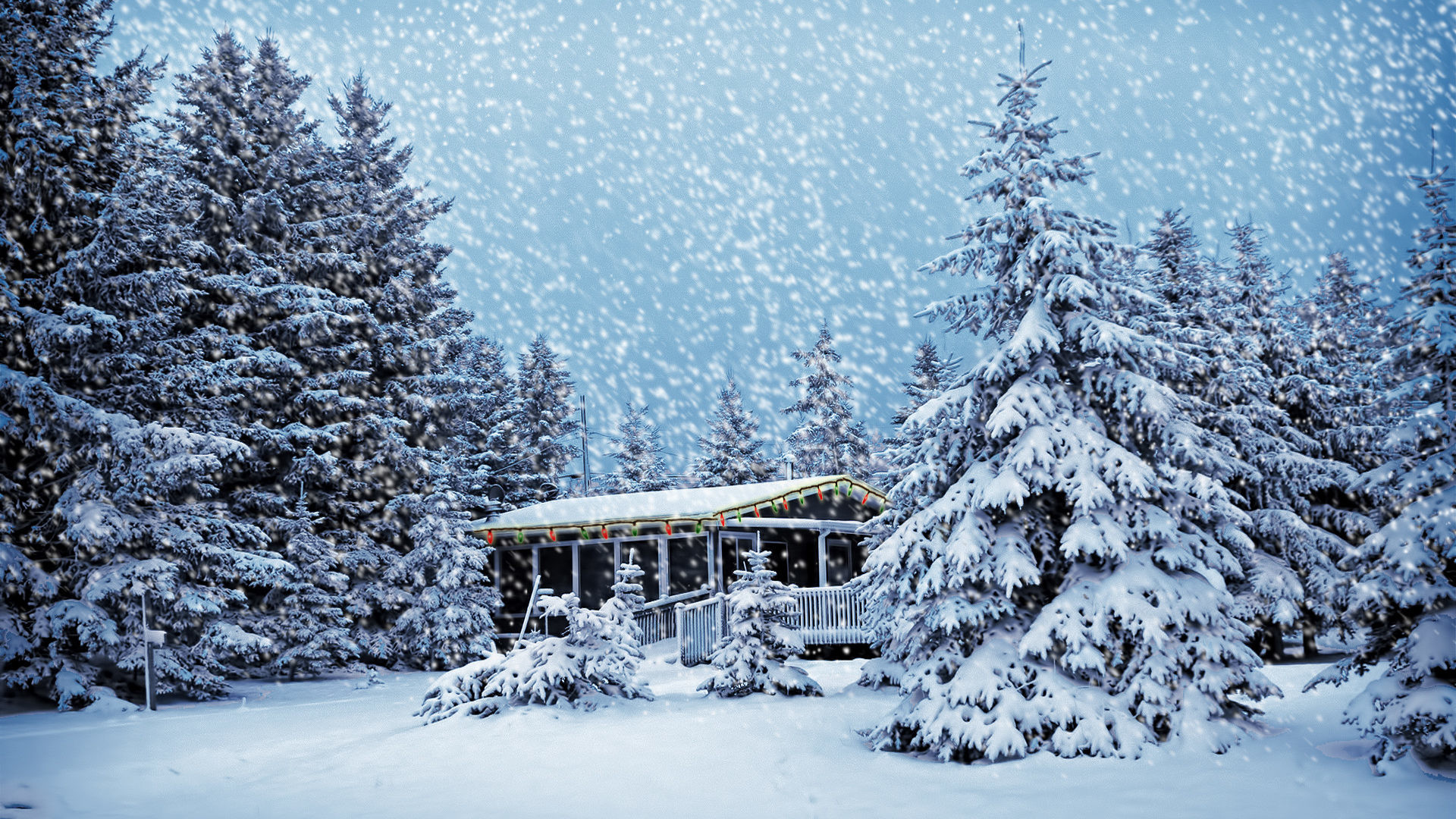 snowy christmas scene in Canada   wallpapers55.com – Best Wallpapers .