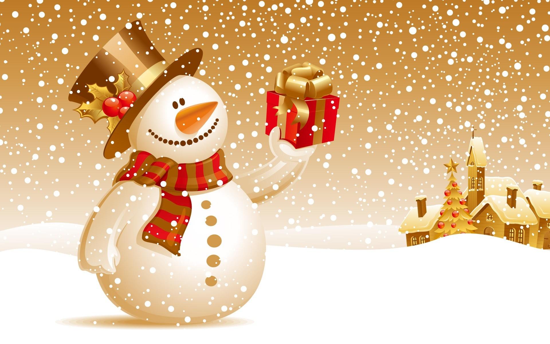 Christmas Snowman Wallpaper Christmas Holidays