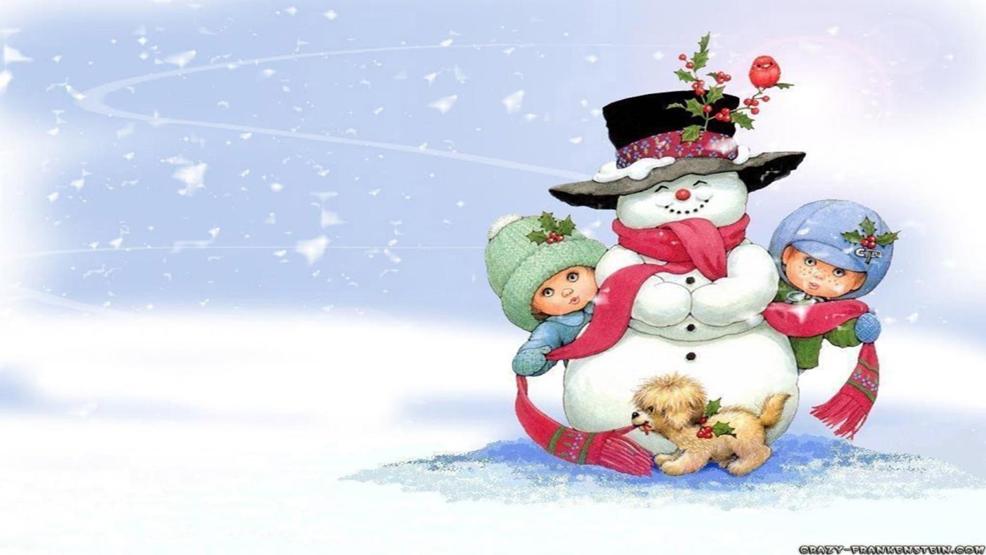 Snowman on Christmas scene 25 december celebration day free .