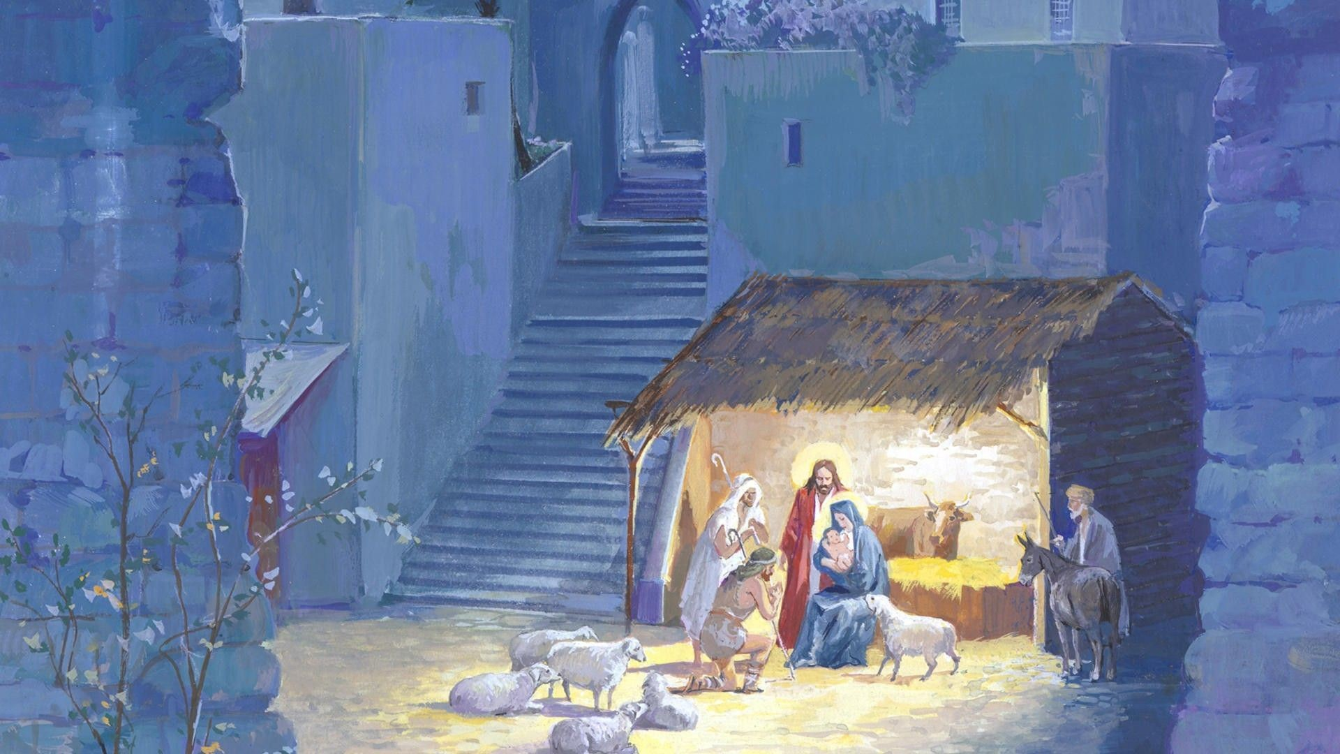Free Christmas Nativity Wallpapers – Wallpaper Cave