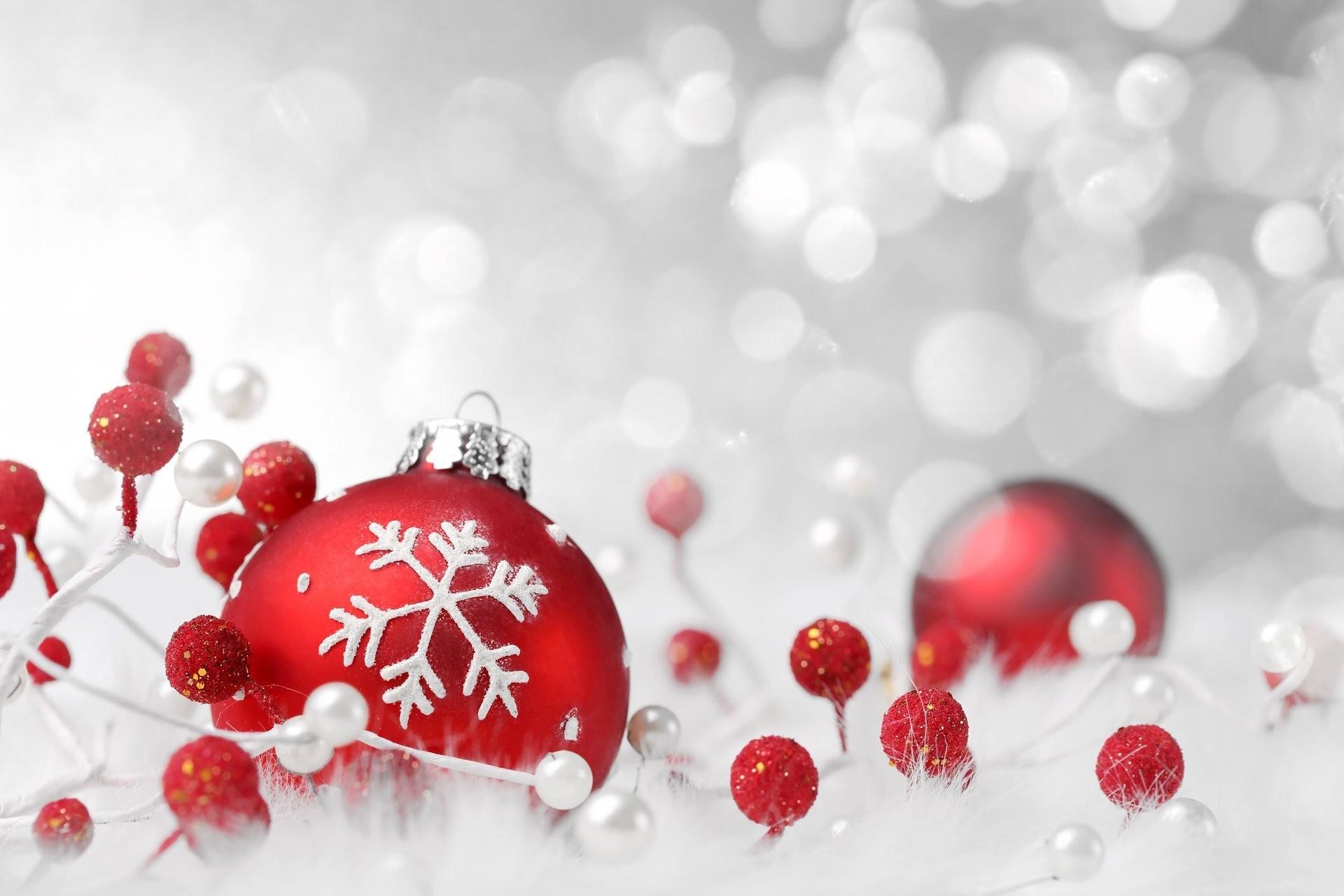 new year christmas ball red snowflake toys christmas christmas scenery  bokeh holidays winter