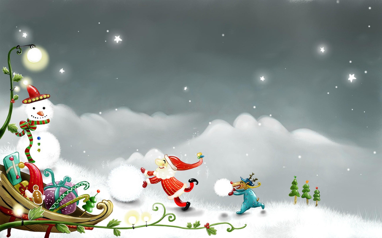 Jovial Christmas Scene