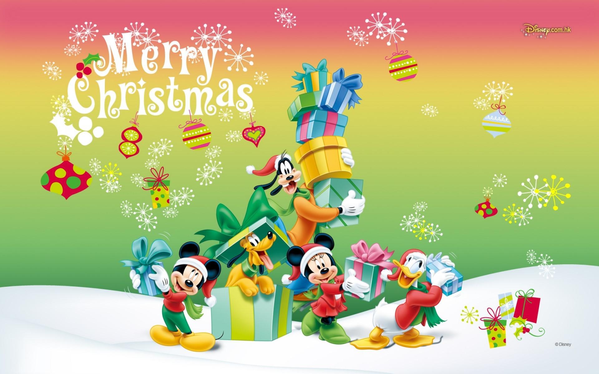 Mickey Mouse Christmas Wallpaper HD.