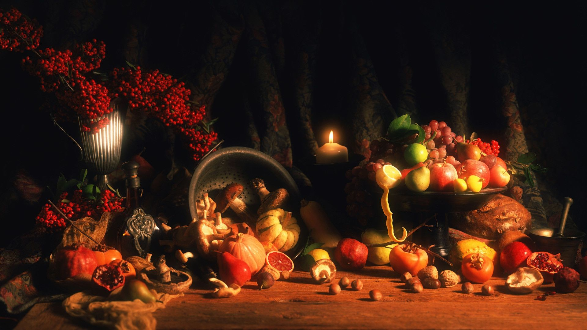 Holiday pumpkin and fruit thanksgiving wallpapers and backgrounds  thanksgiving wallpaper desktop free.