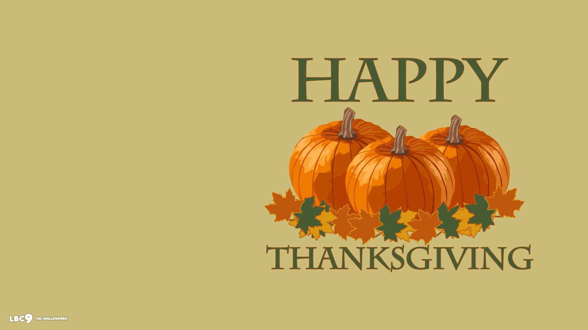 happy thanksgiving three pumpkins simple holiday desktop background