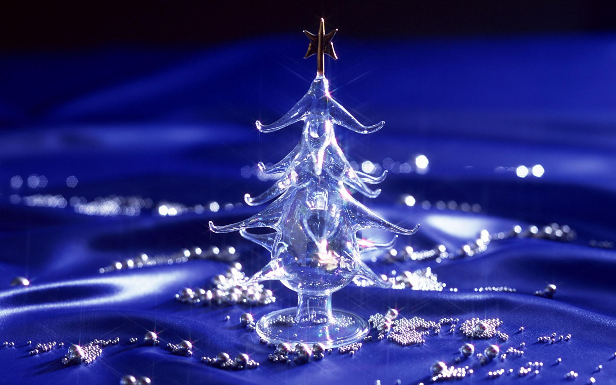 Beautiful Glass HD Christmas Wallpaper 7444