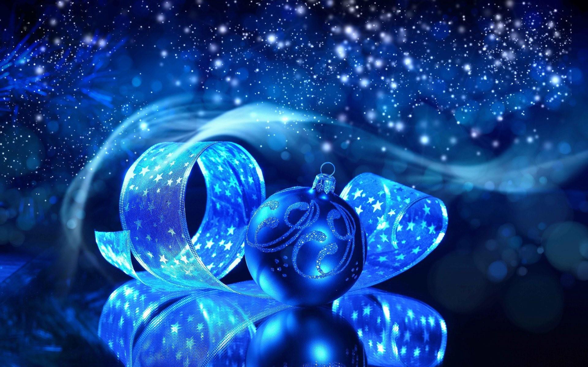 Blue Christmas Background Widescreen.