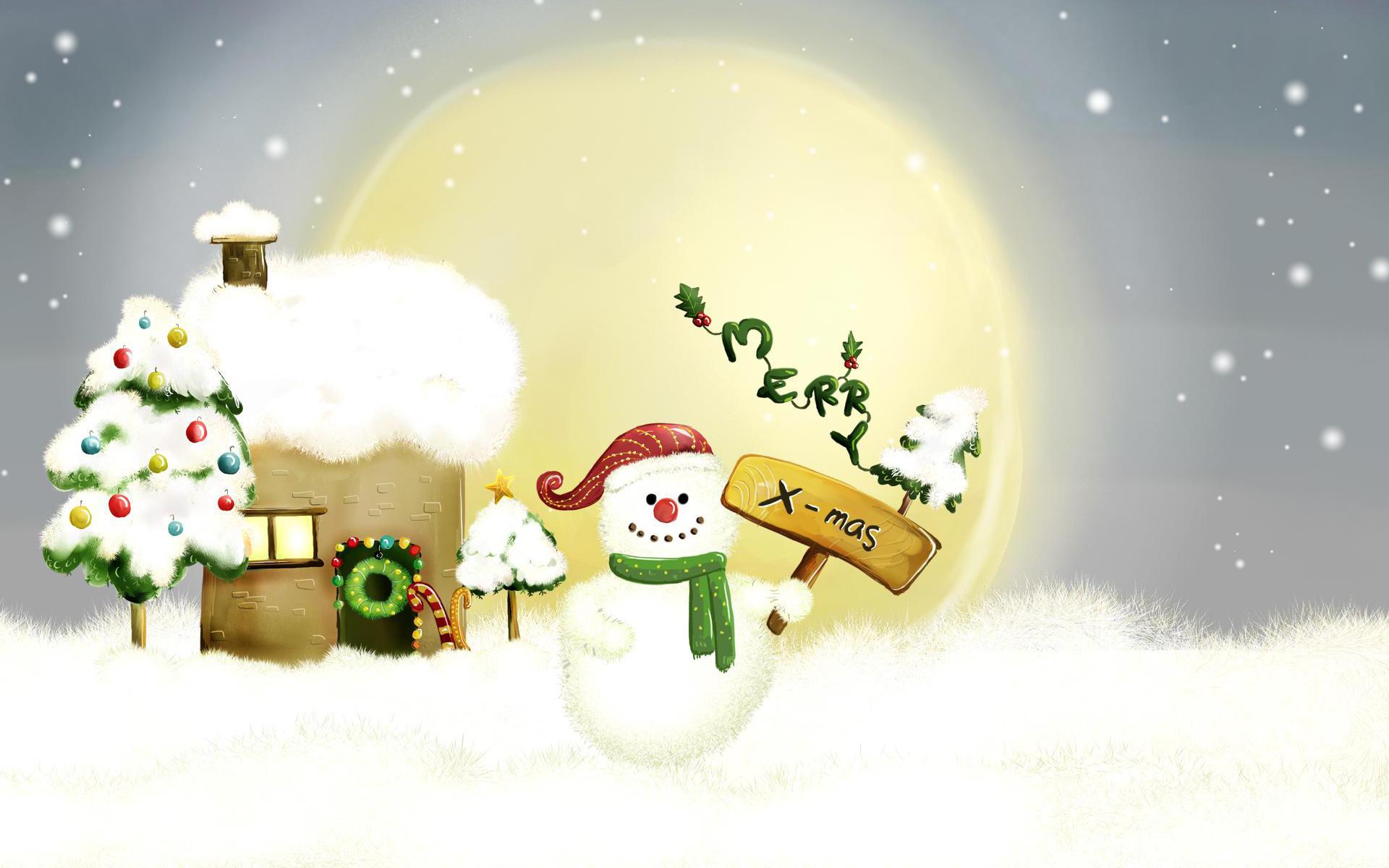 Snowman Merry Xmas
