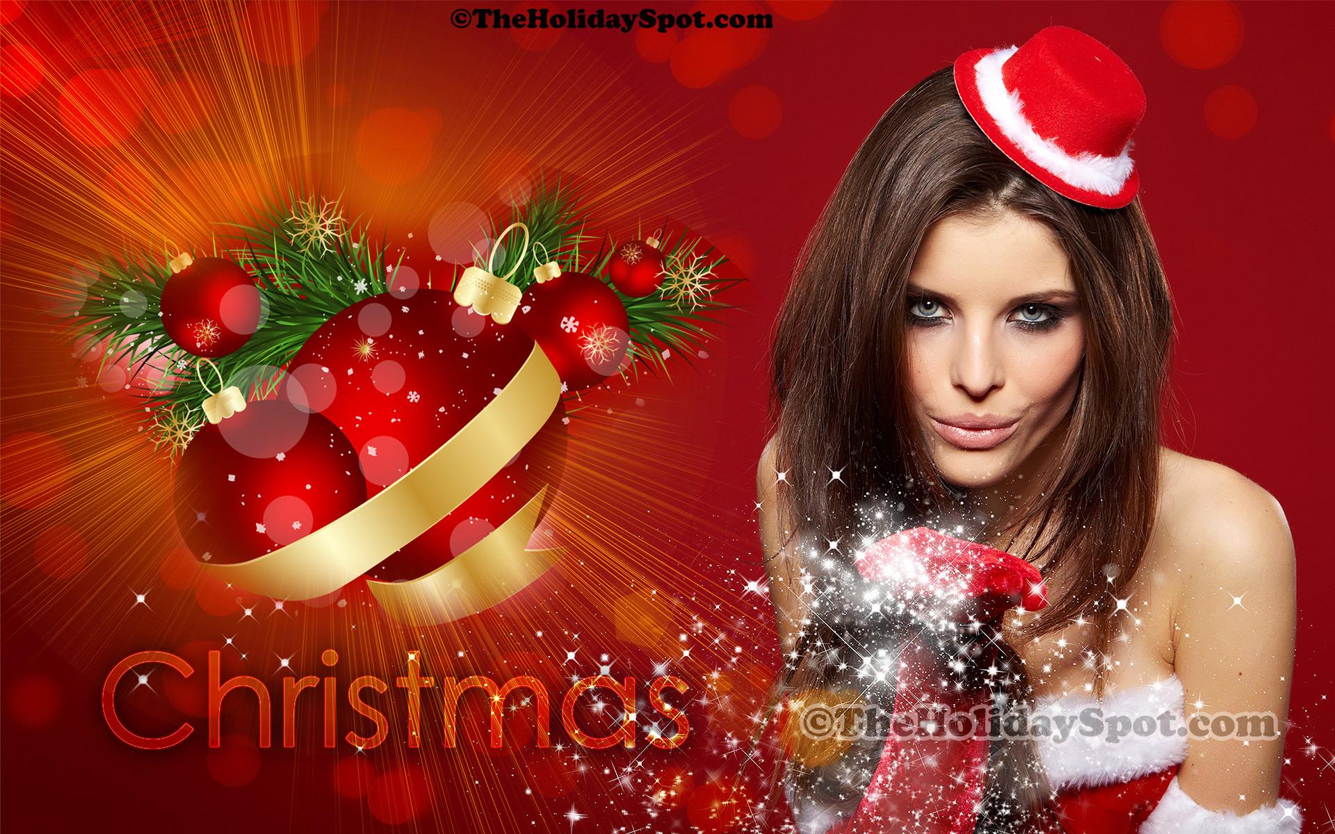 A wonderful Christmas wallpaper showing the spirit of celebration.
