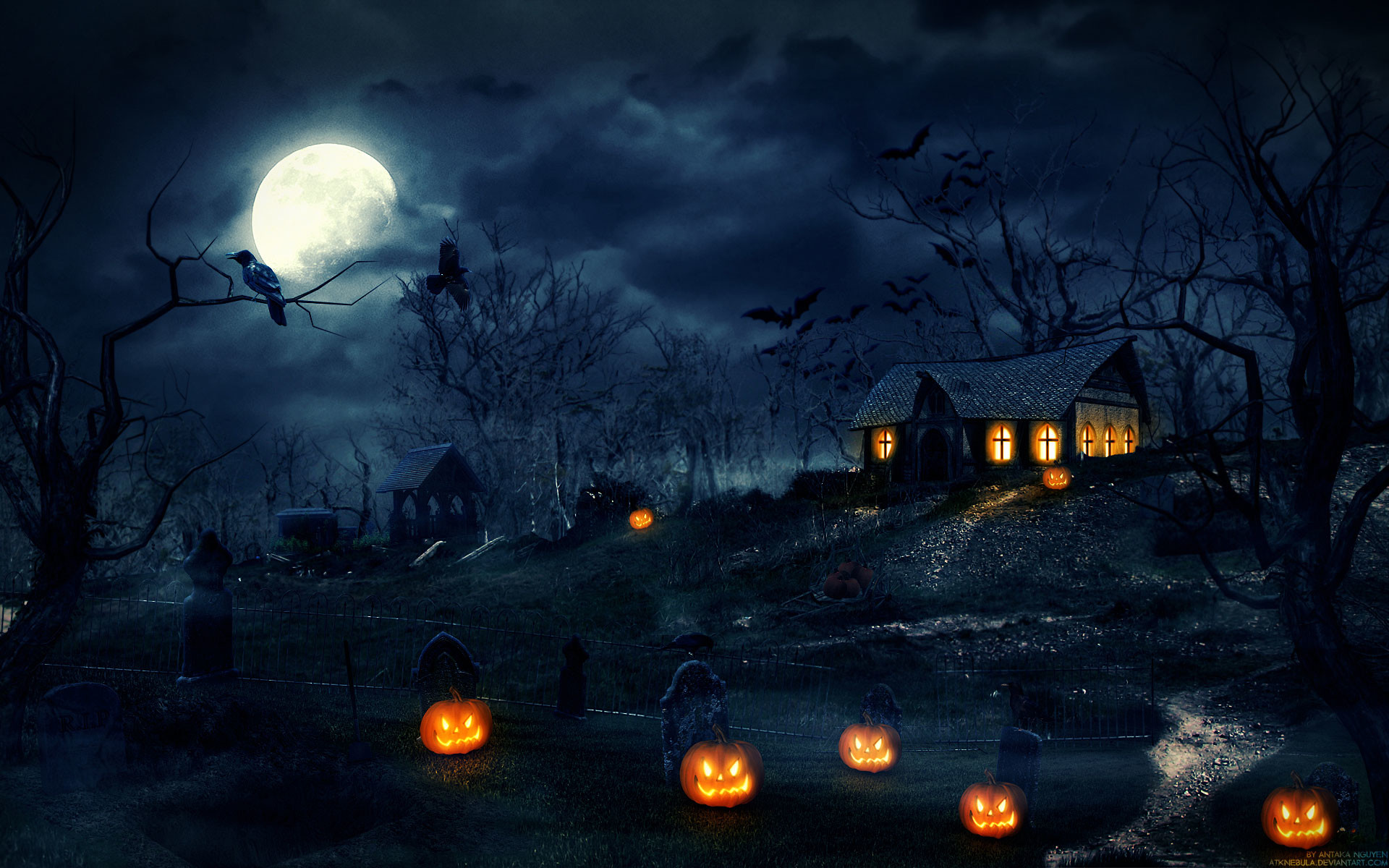 2014 Halloween Night Wallpaper HD