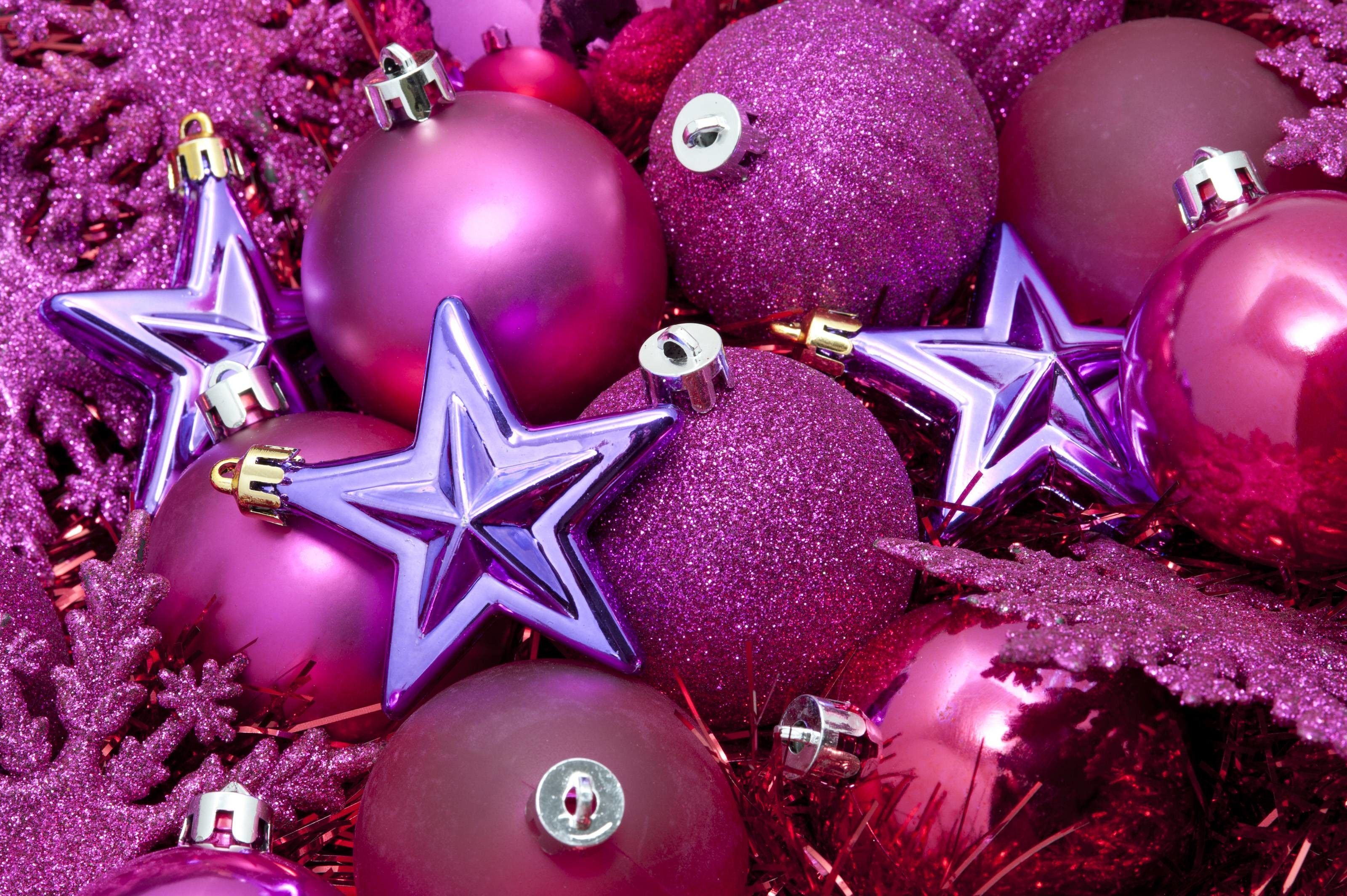 Wallpapers For > Pink Christmas Background Wallpaper