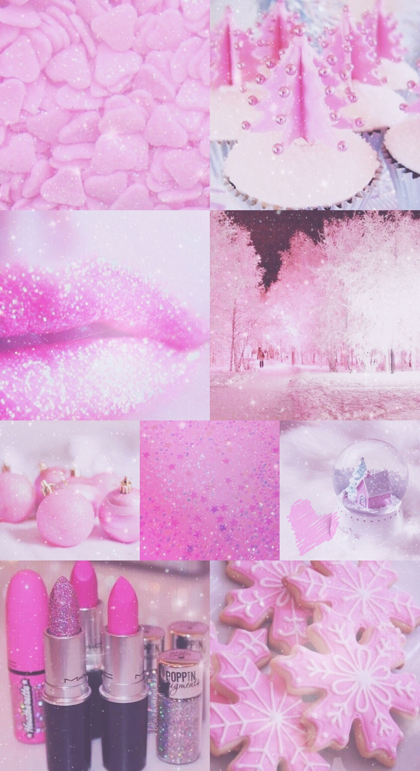 pink, Christmas, wallpaper, sparkly, glitter, xmas, background, iPhone,