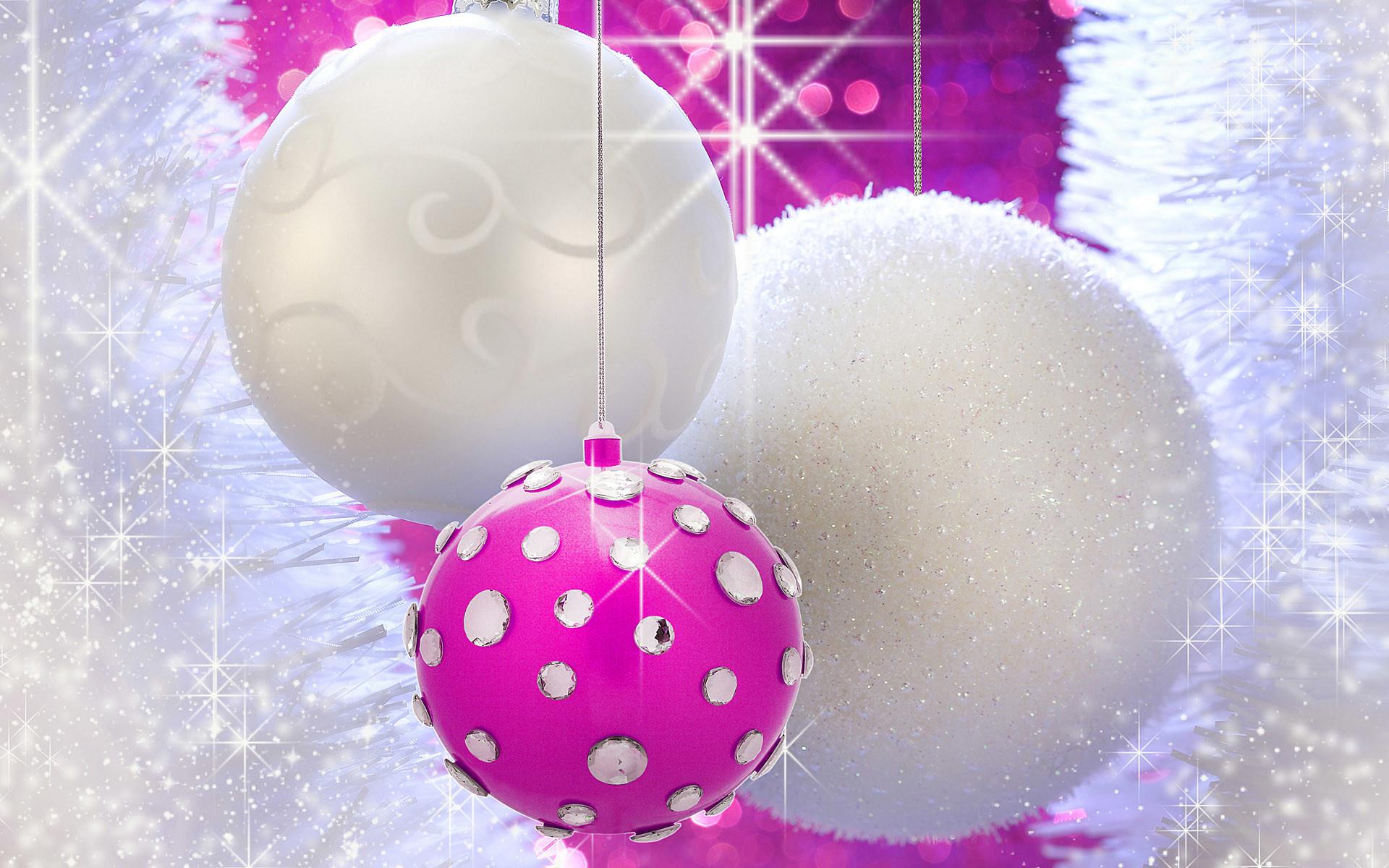 Christmas Pink Wallpaper
