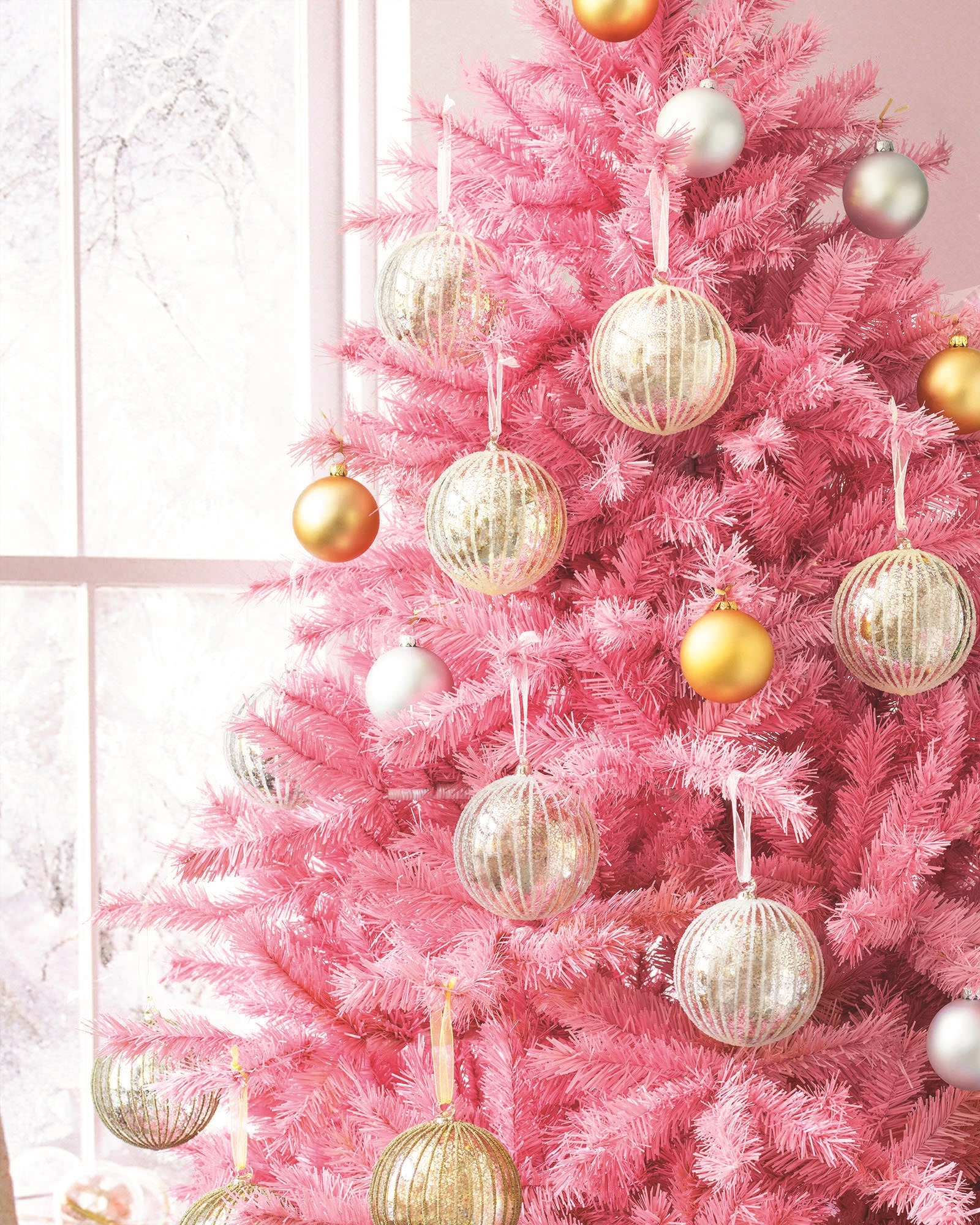 Pink Christmas Tree, Artificial Christmas Trees, Santa Baby, The Pretty, A  Fan, The Tree, Branches, Glow