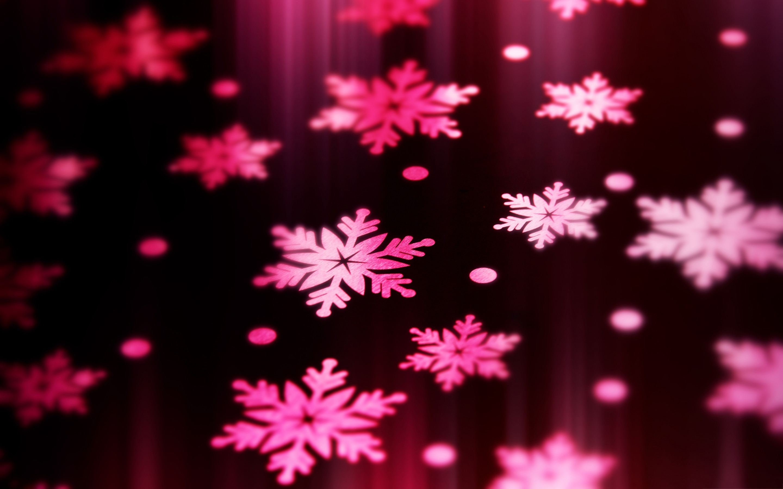 Pink Snowflake Wallpaper