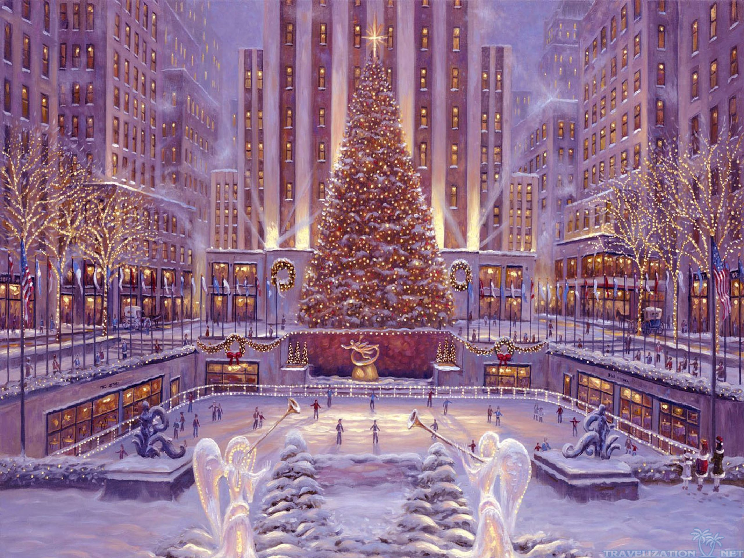 … christmas scenes wallpaper flatargablink; amazing winter christmas  wallpapers travelization …