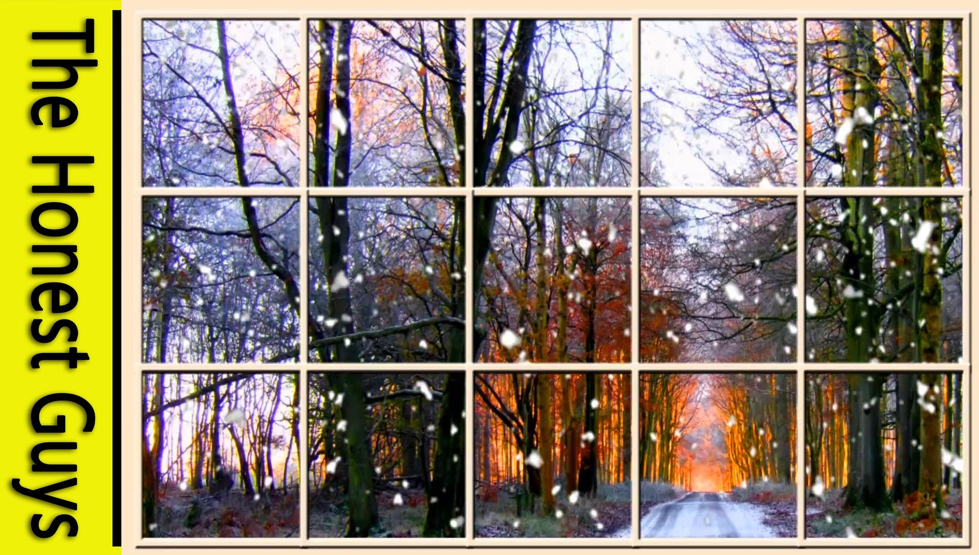 Winter Window Scene. Forest (living Wallpaper with Ambient Fireplace Audio)  – YouTube