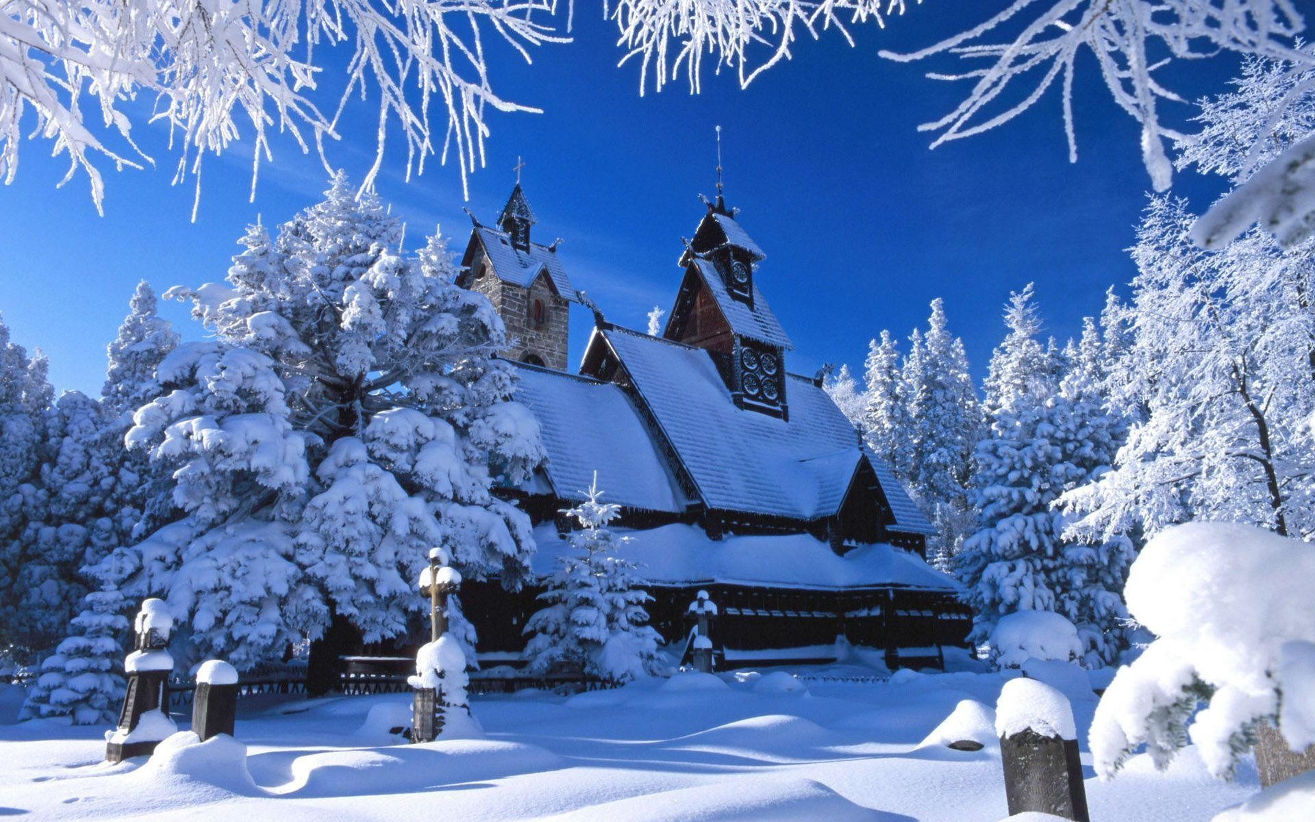 Christmas Winter Scenes Design Ideas ~ Winter Scene Wallpaper .
