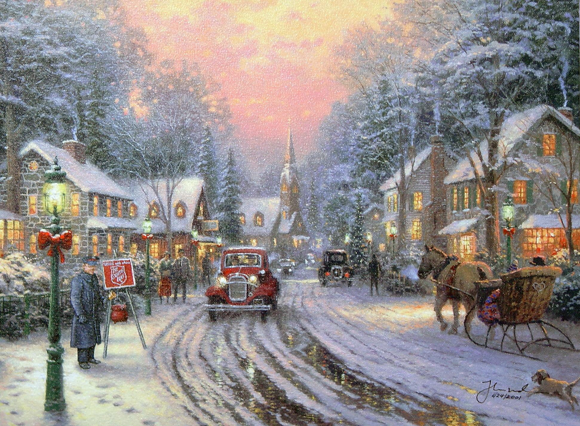 Thomas Kinkade Christmas Wallpaper (18)