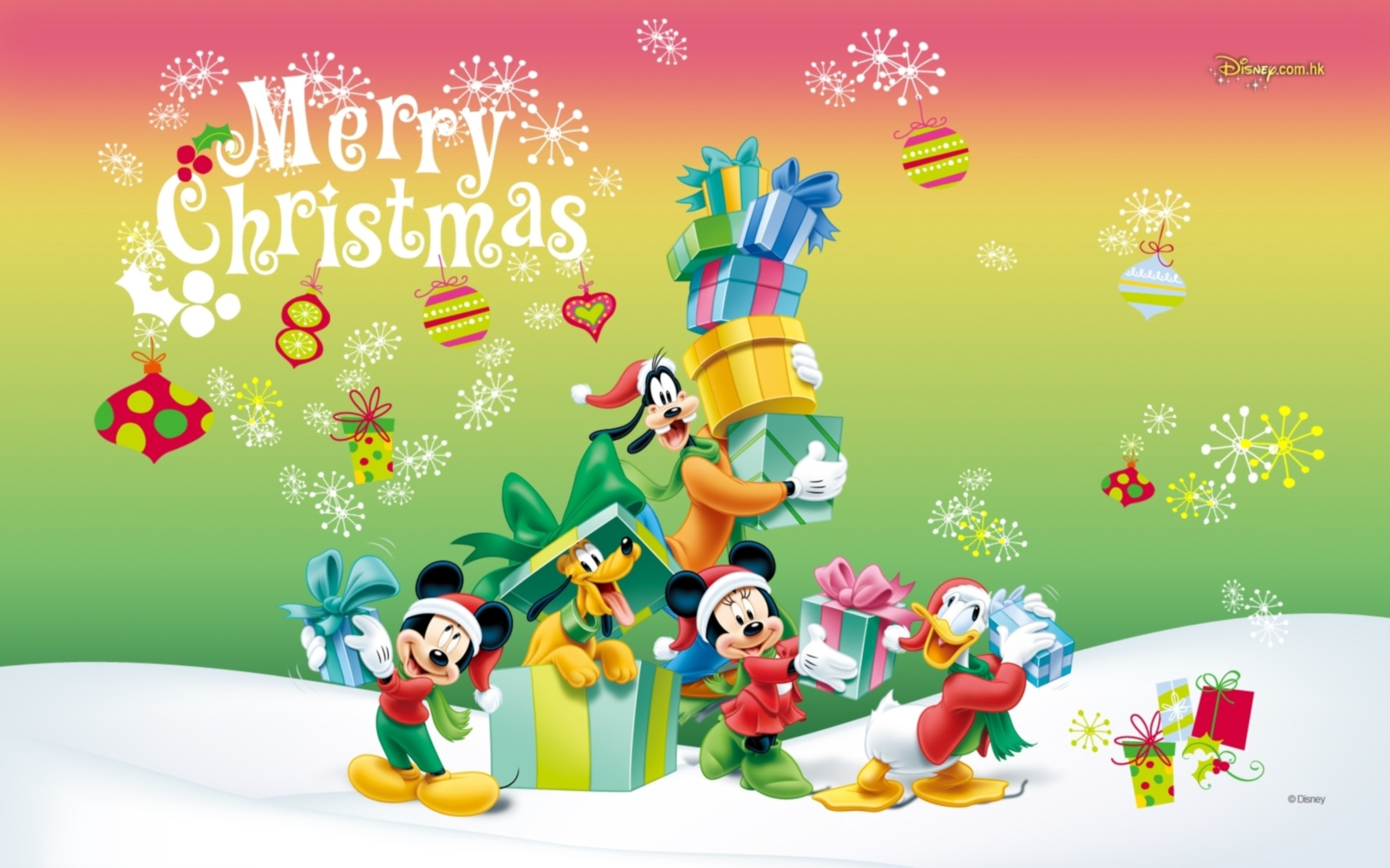 Cartoon characters on Christmas wallpapers and images – wallpapers .