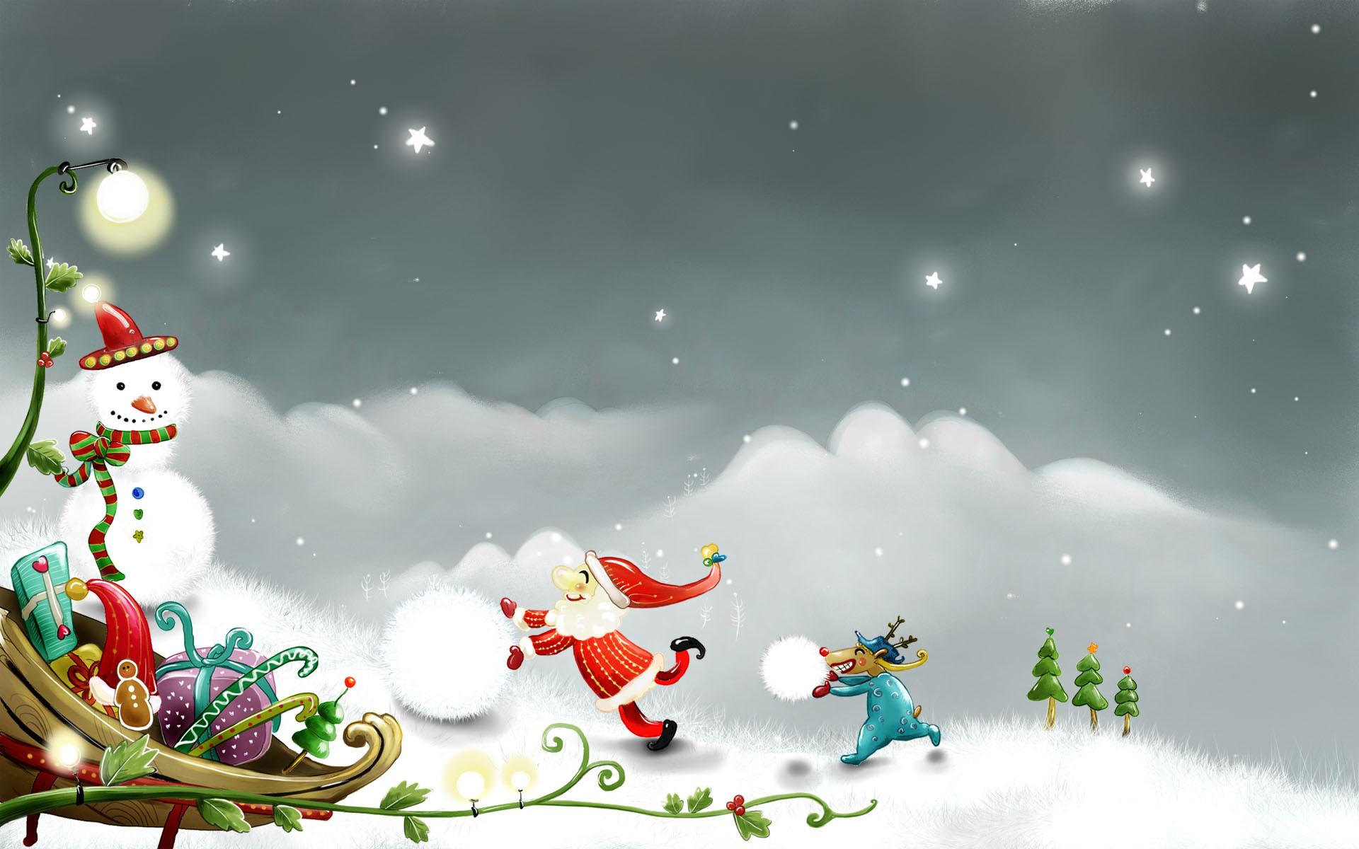 Christmas Cartoon Wallpapers For Kids
