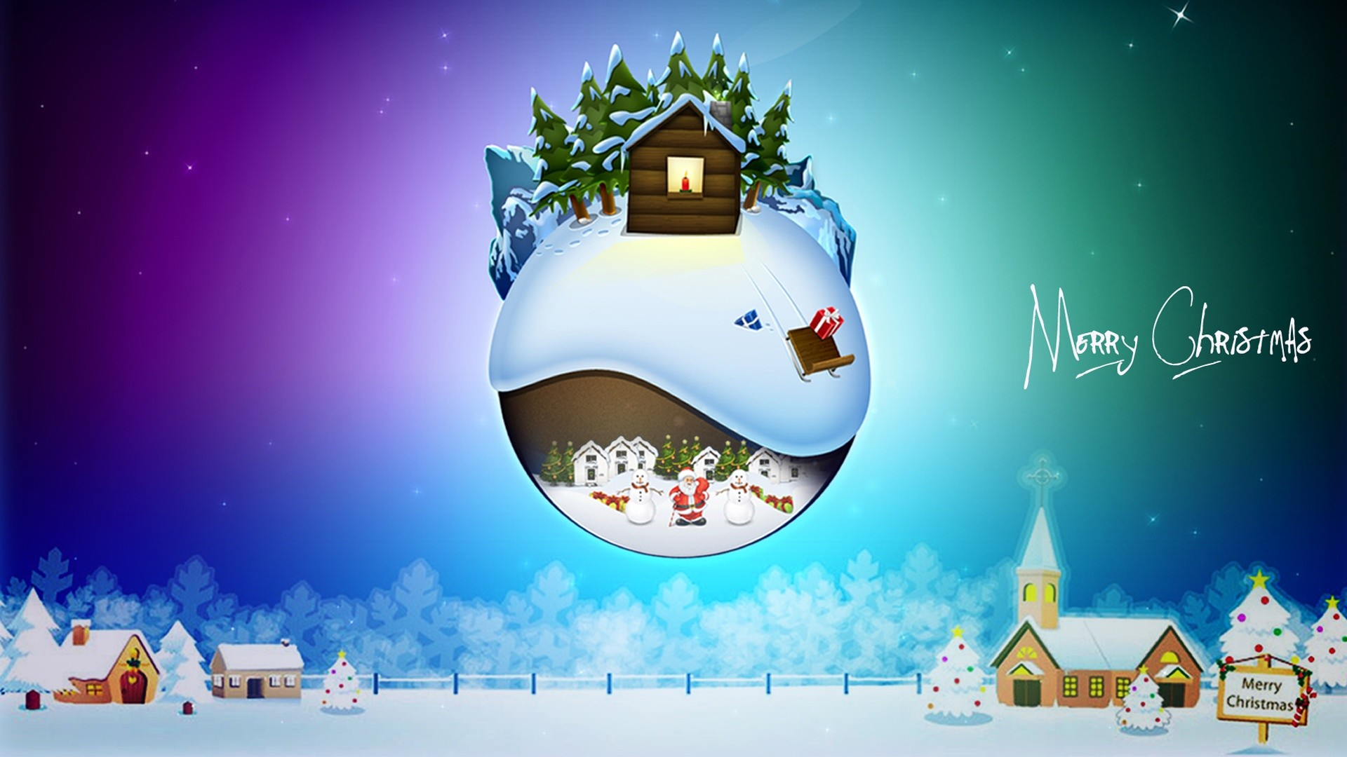 Merry christmas cartoon pictures or wallpapers 2015
