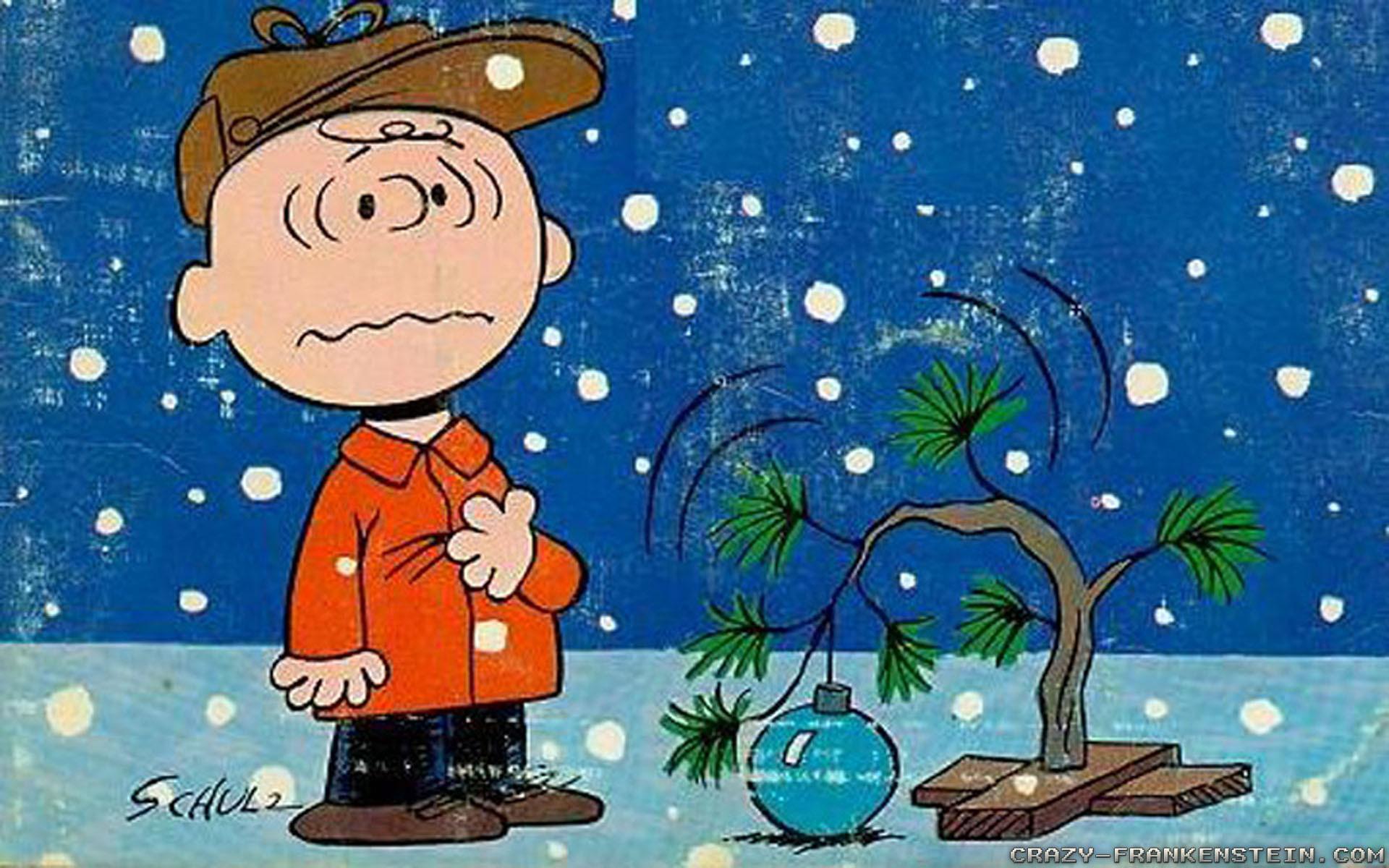 Wallpaper: Charlie Brown Christmas tree cartoon. Resolution: 1024×768 |  1280×1024 | 1600×1200. Widescreen Res: 1440×900 | 1680×1050 | 1920×1200