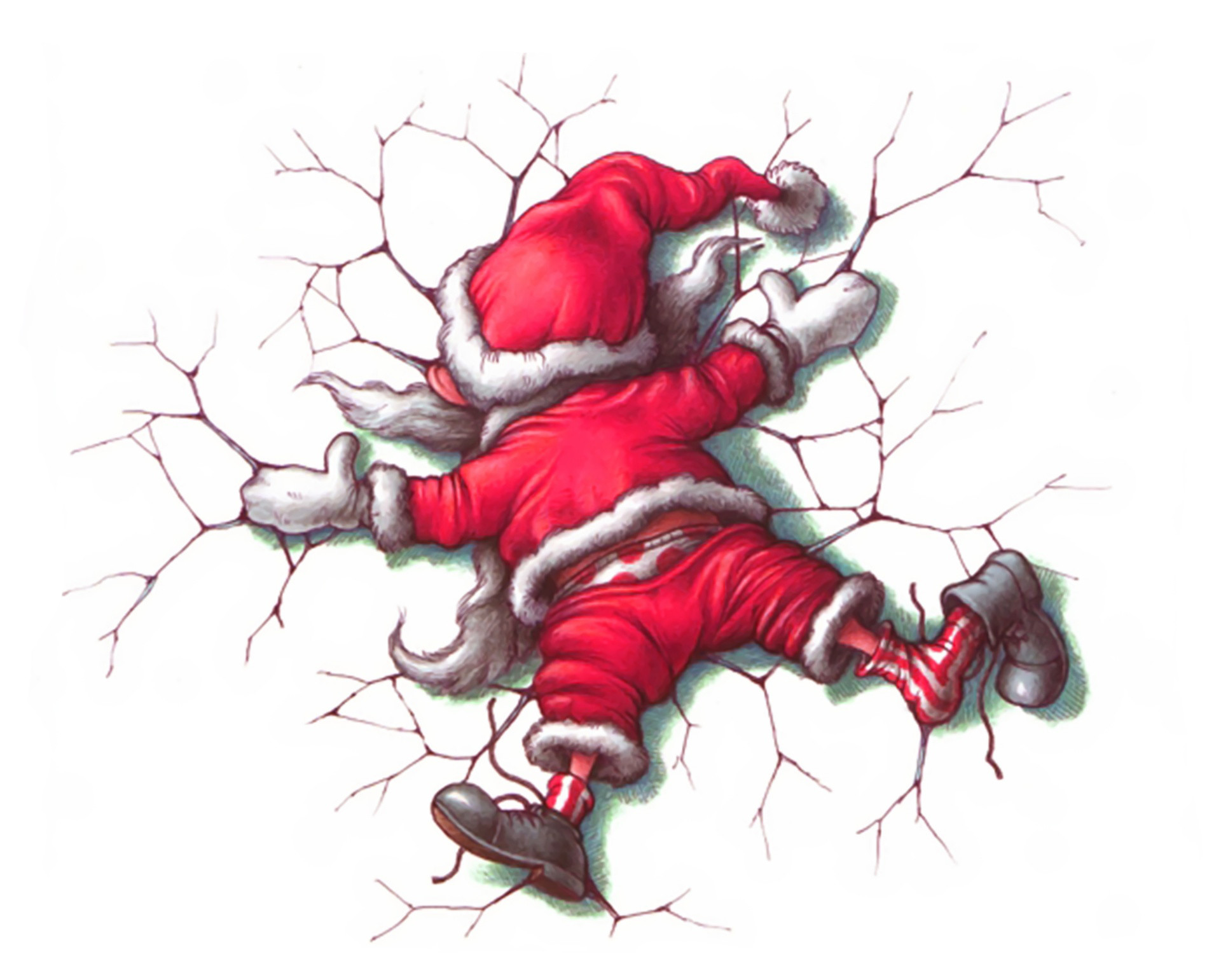 Funny Christmas Cartoon 6 Widescreen Wallpaper