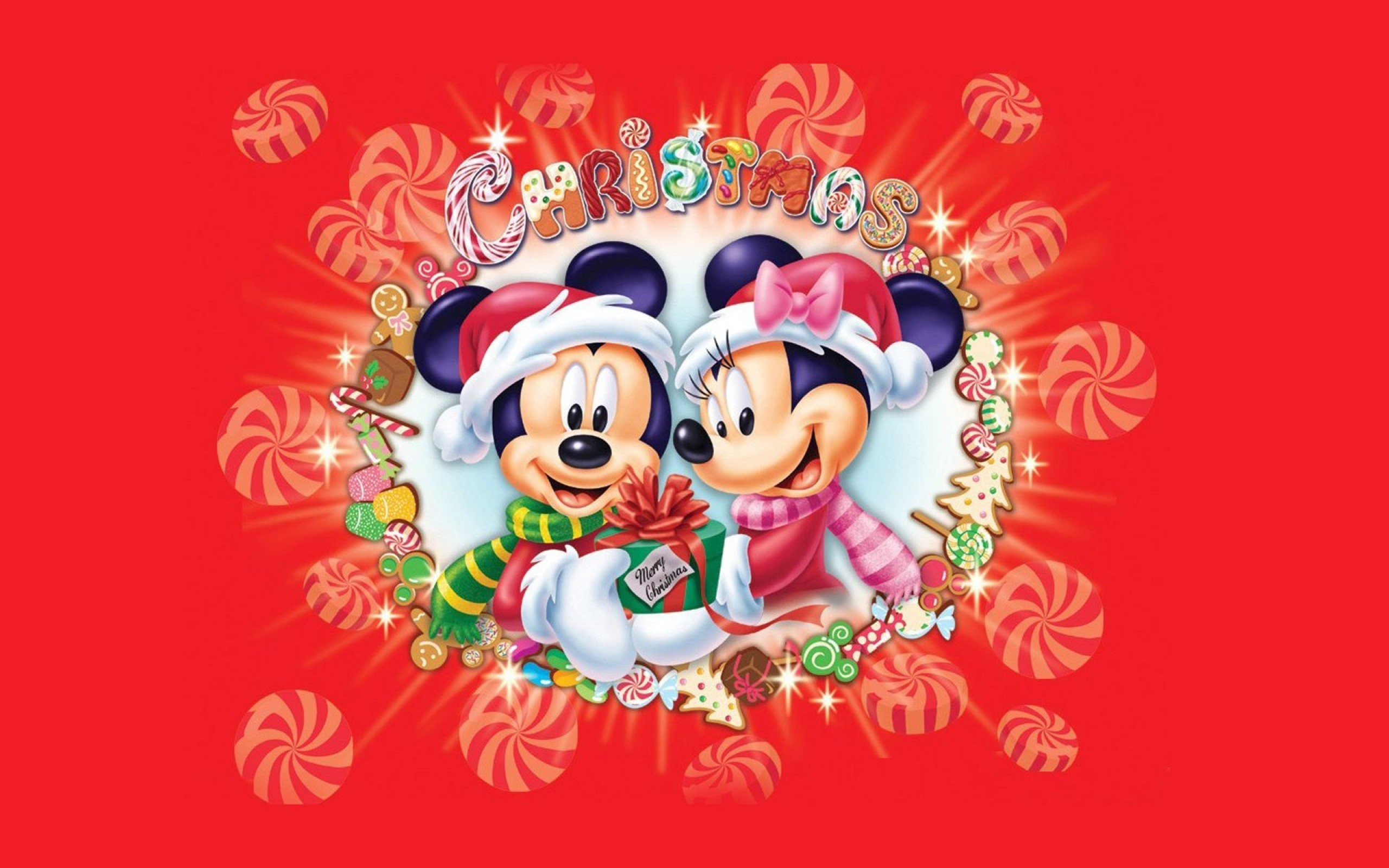 Xmas Stuff For > Mickey Mouse Christmas Wallpaper