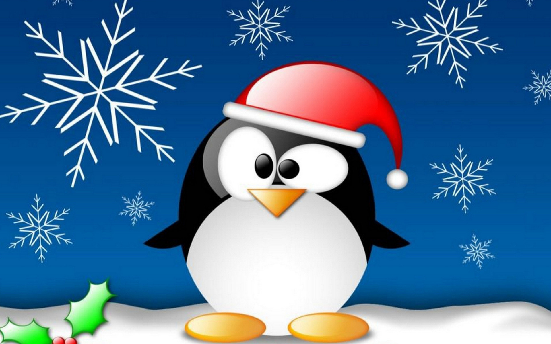 penguin on Christmas wallpapers and images – wallpapers, pictures .