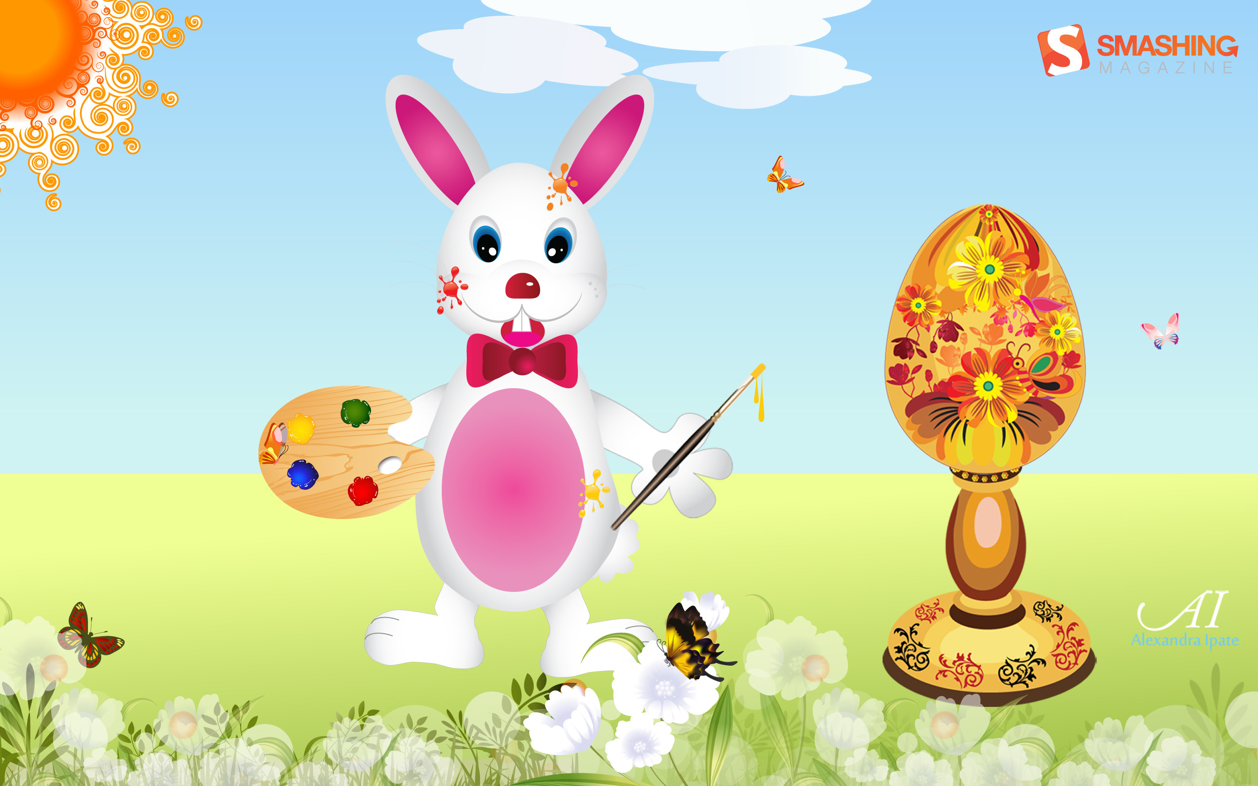 """Easter Bunny With Painted Egg. """""""