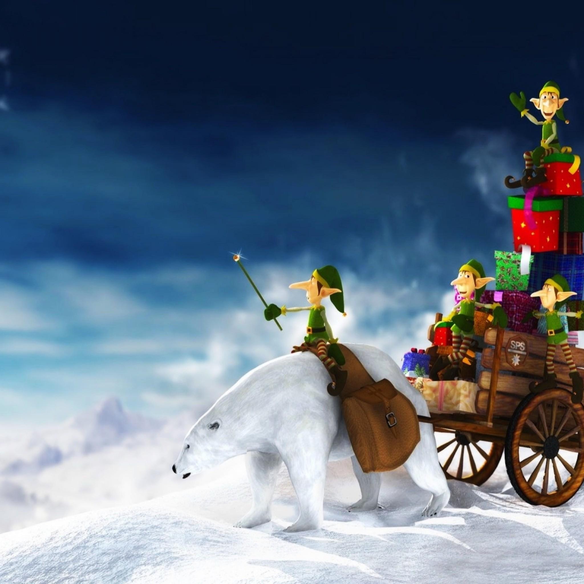 3D Christmas Wallpaper For Ipad