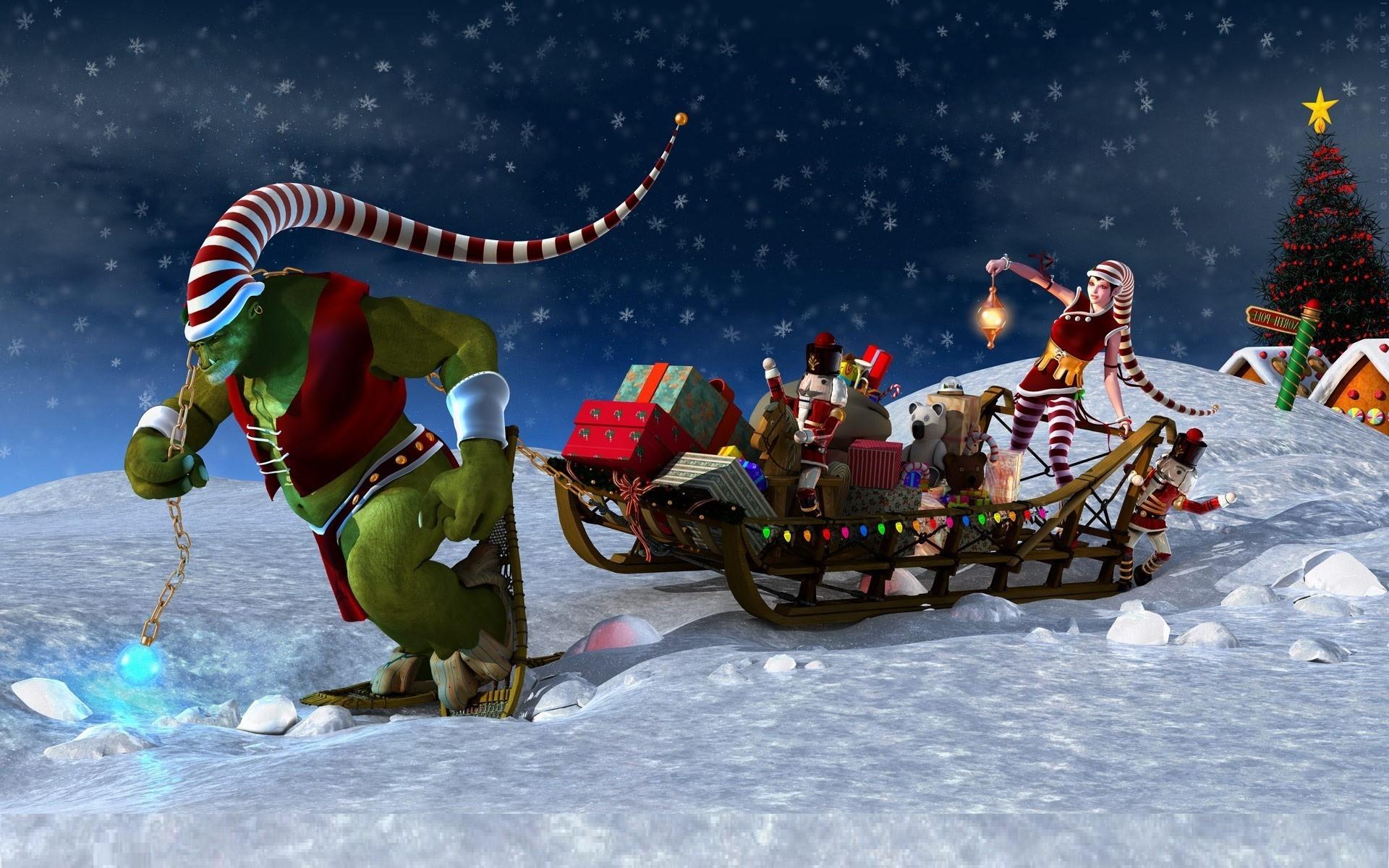 Animated Christmas Backgrounds For Desktop #17359 Wallpaper .