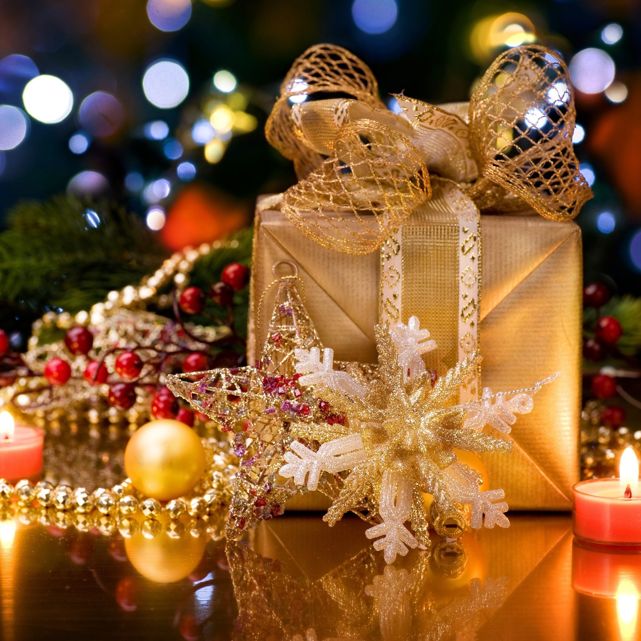 2143 6: Christmas Gift Box iPad wallpaper