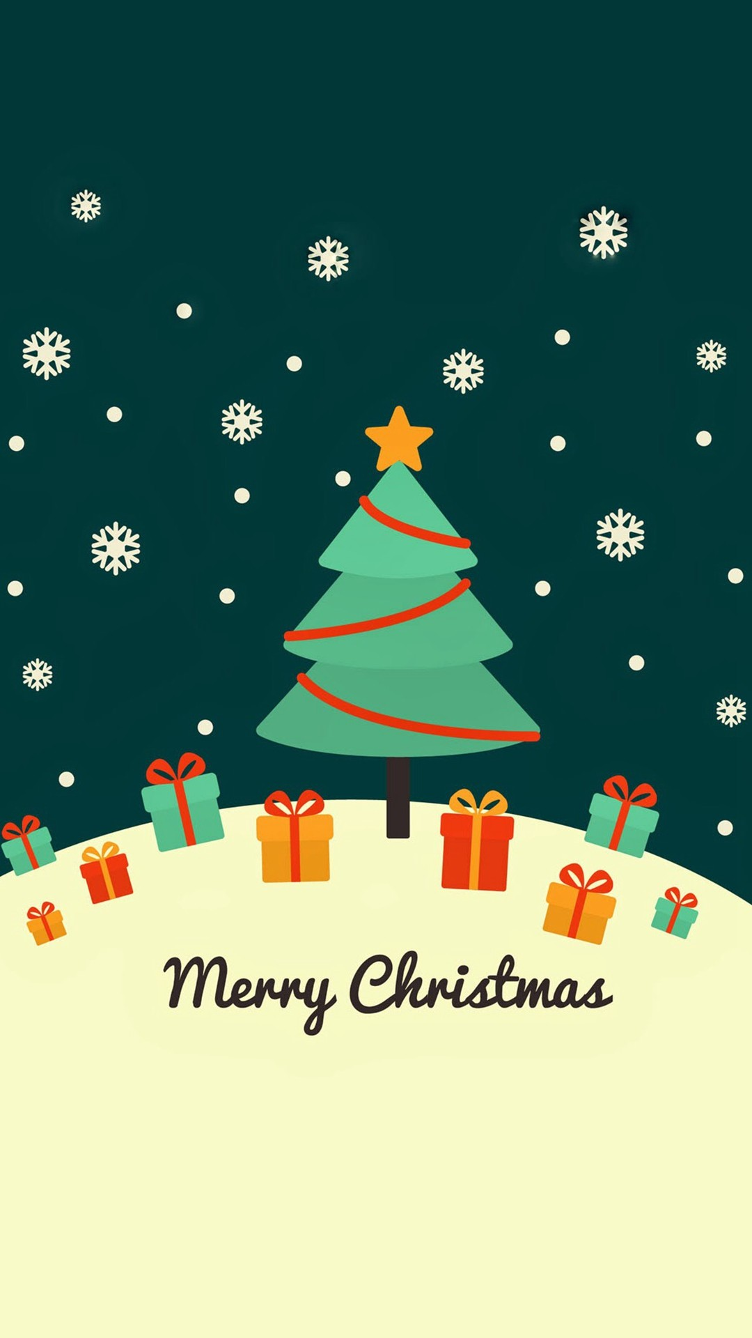 Cute Christmas Card Greeting iPhone 8 wallpaper