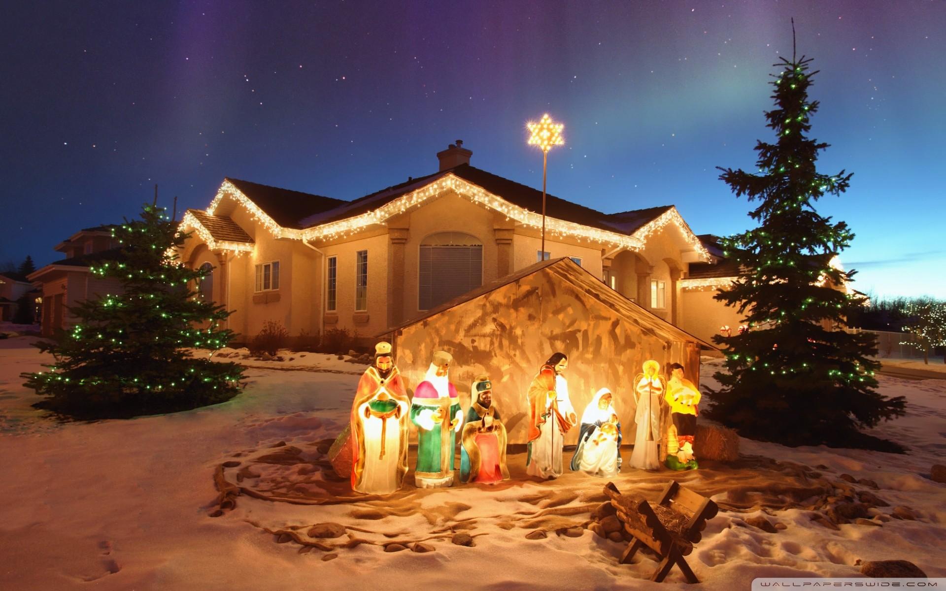 Outdoor Christmas Nativity Scen · outdoor_christmas_nativity_scene-wallpaper -1920×1200