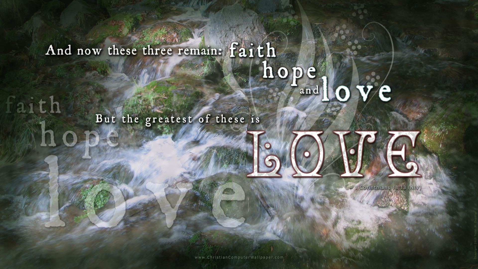 Featured Scripture: 1 Corinthians 13:13