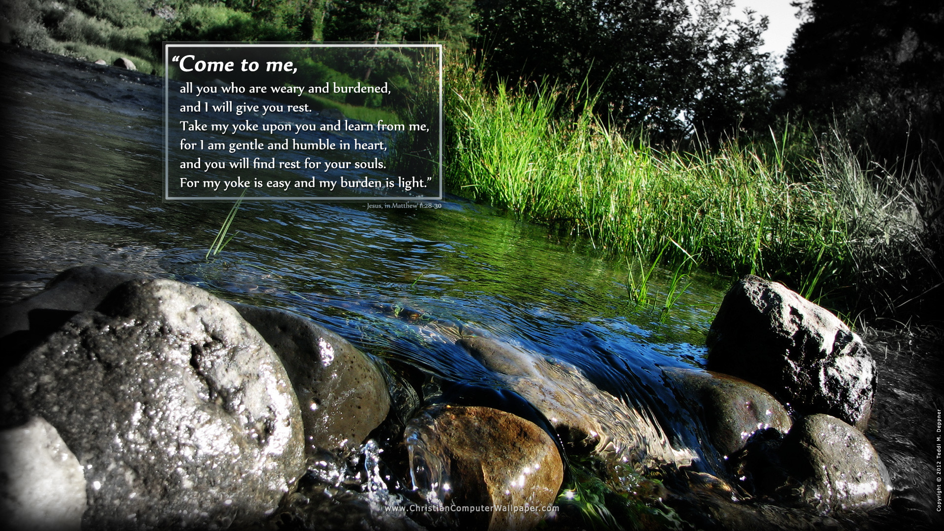 Featured Scripture:Â Matthew 11:28-30