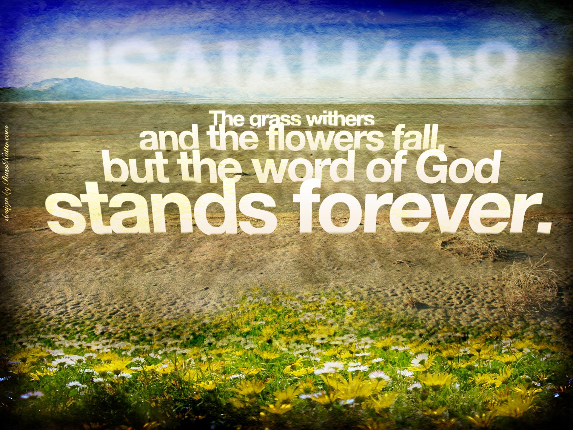 Isaiah 40:8 – Word of God