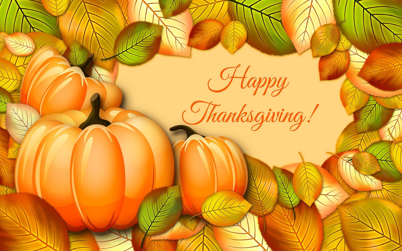 Happy Thanksgiving Leaves Autumn Fall 3d Cg wallpaper #