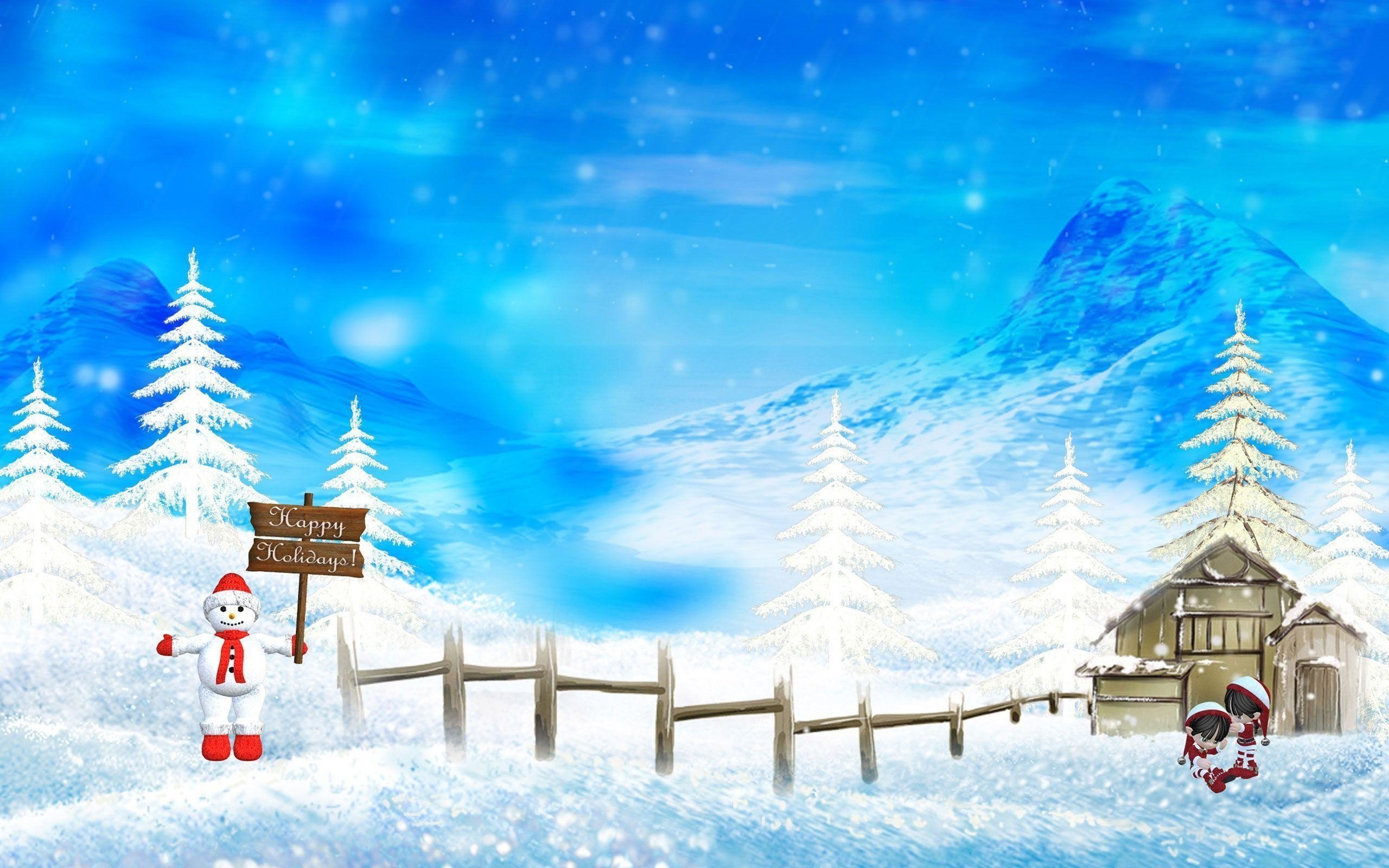 Wallpapers For > Christmas Winter Wallpaper Backgrounds