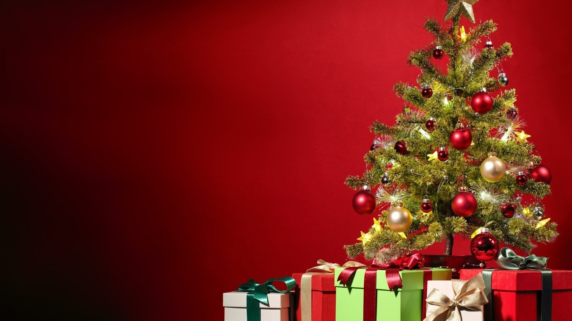 Merry Christmas tree free download wallpaper – 2016