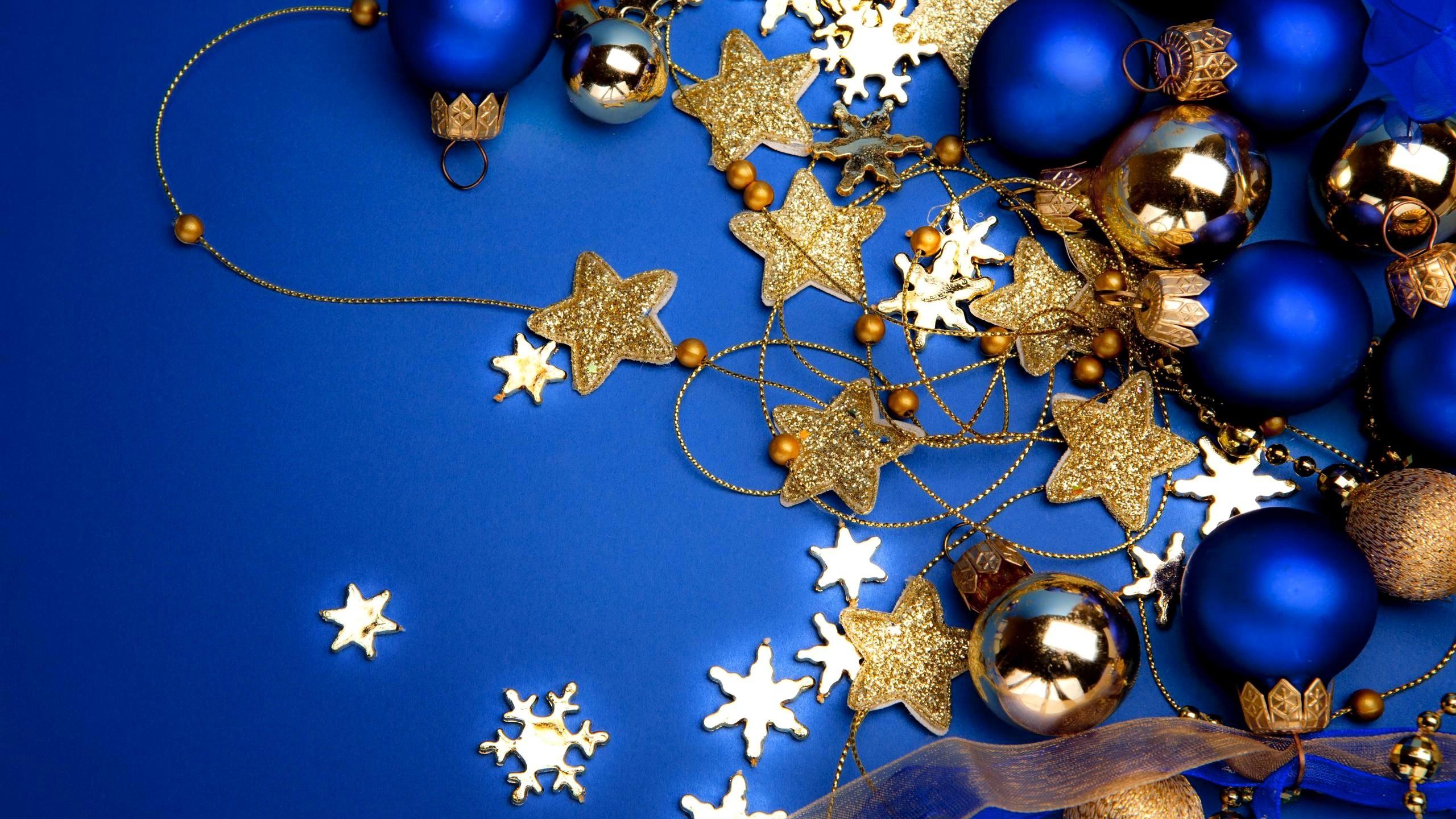 Blue Christmas Wallpaper for Desktop.