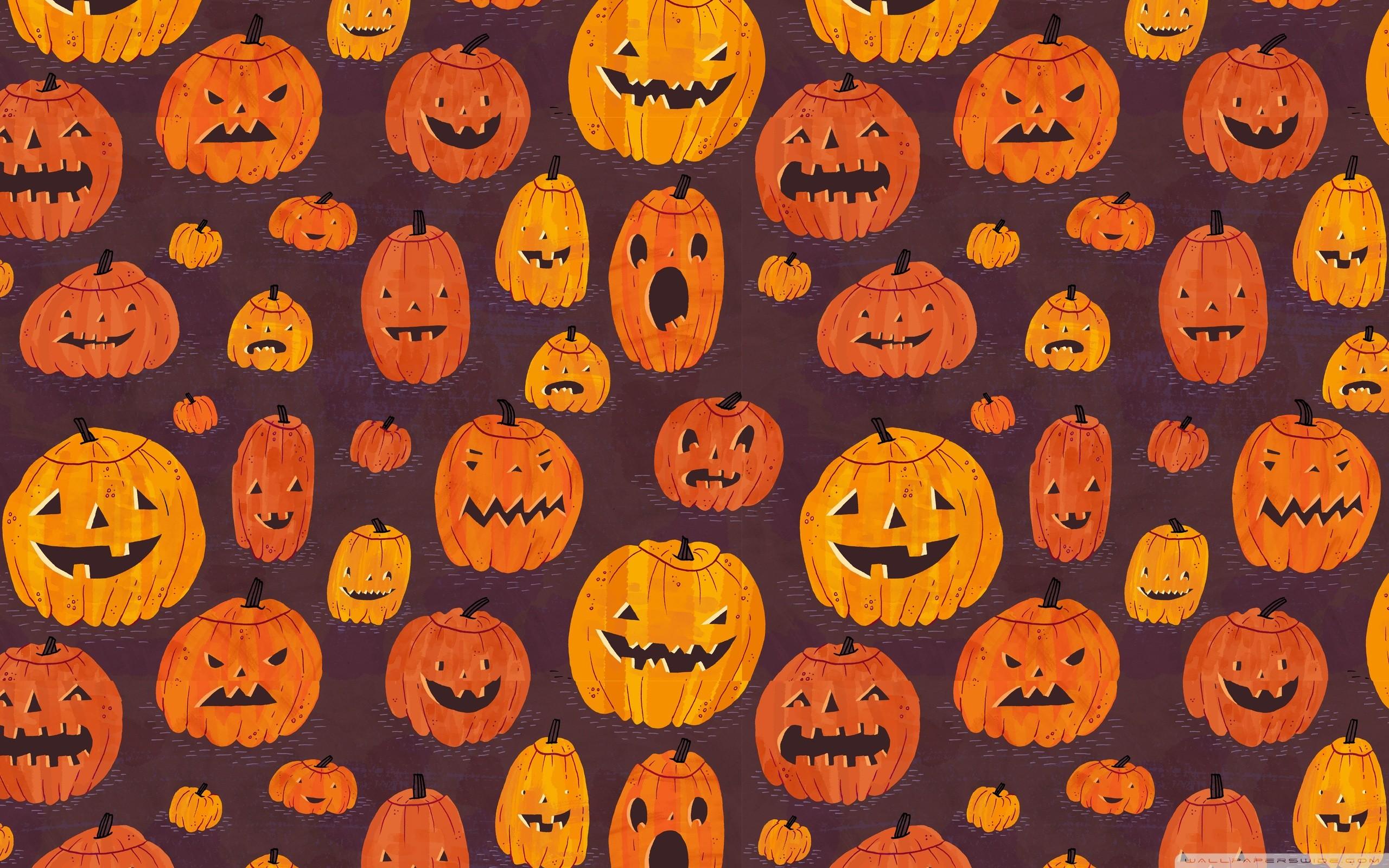 Halloween Pumpkins Pattern HD desktop wallpaper : High Definition …  Halloween Pumpkins Pattern HD Desktop Wallpaper High Definition