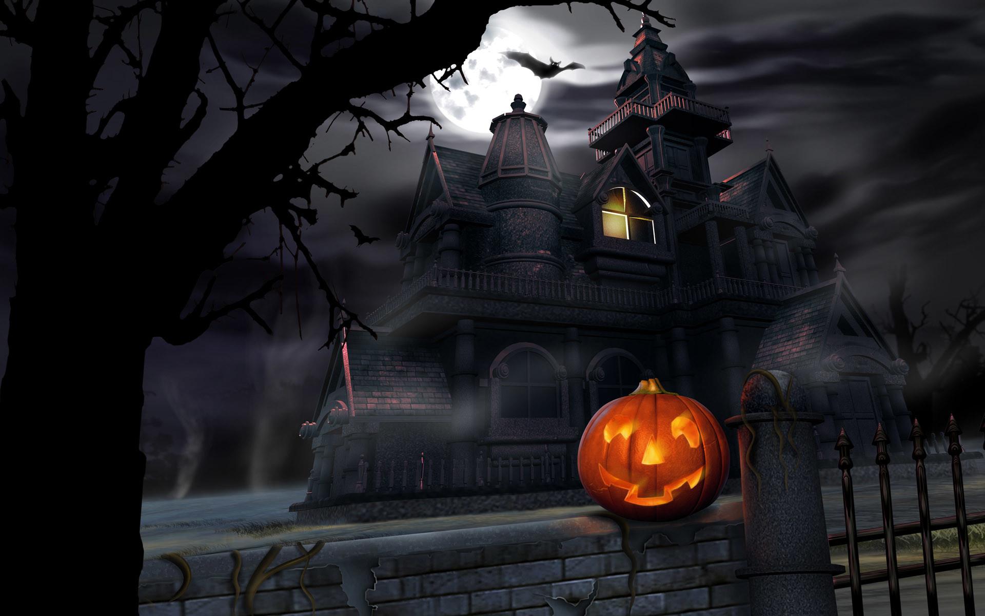 free desktop wallpaper of halloween night free computer desktop .