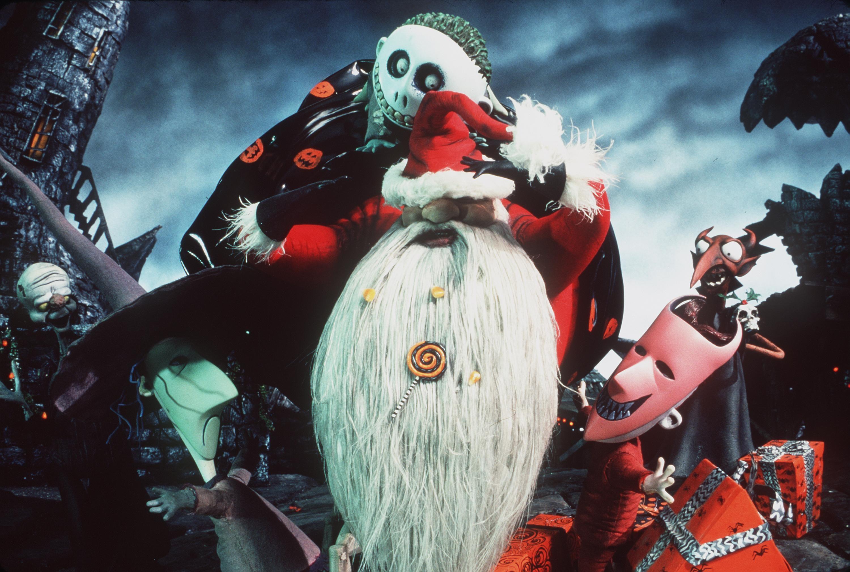 Jack Santa Nightmare Before Christmas HD Desktop Wallpaper