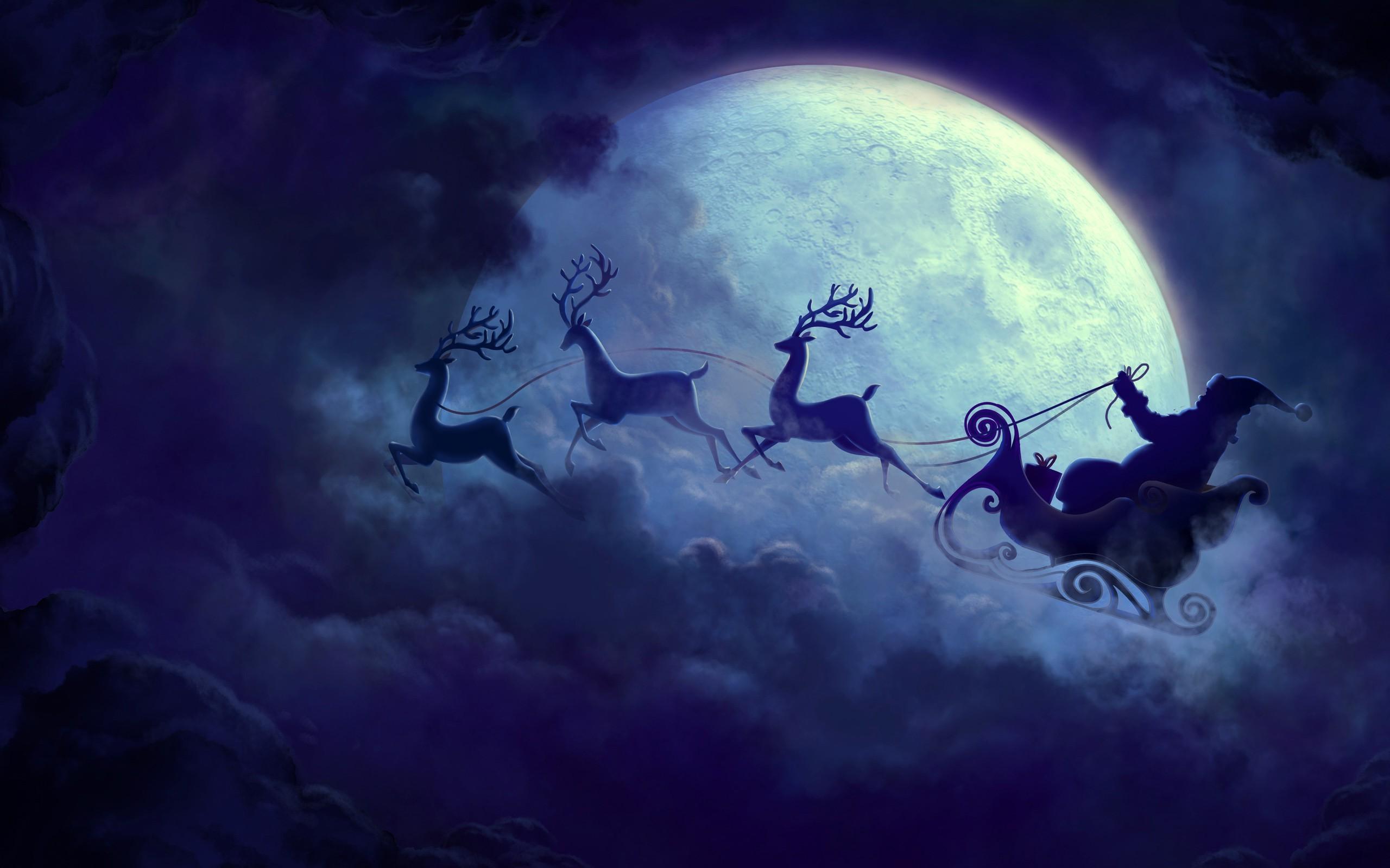 Christmas Moon wallpapers (50 Wallpapers)