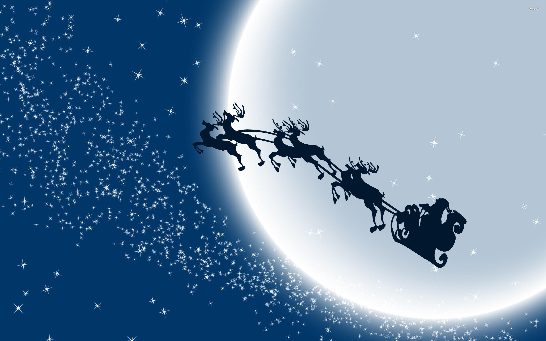 Santa Sleigh Wallpaper